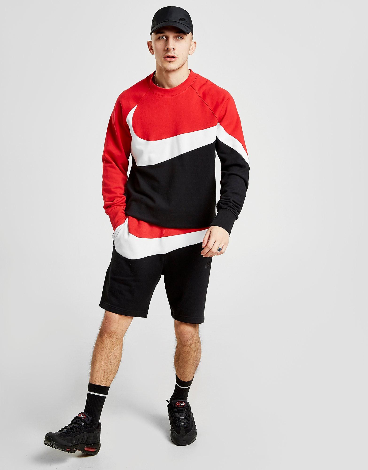 Nike Swoosh Fleece Shorts - Zwart - Heren