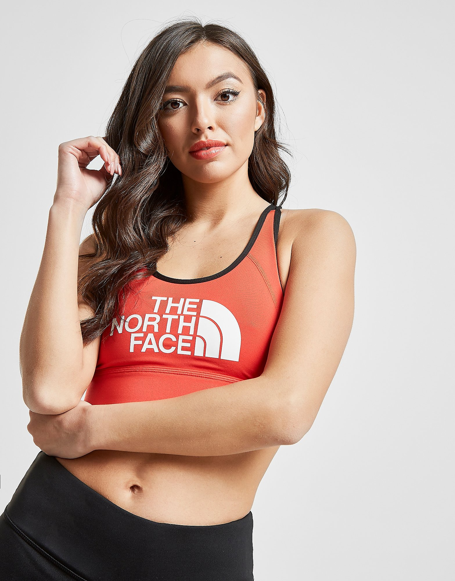 The North Face Logo Bra Dames - Rood - Dames