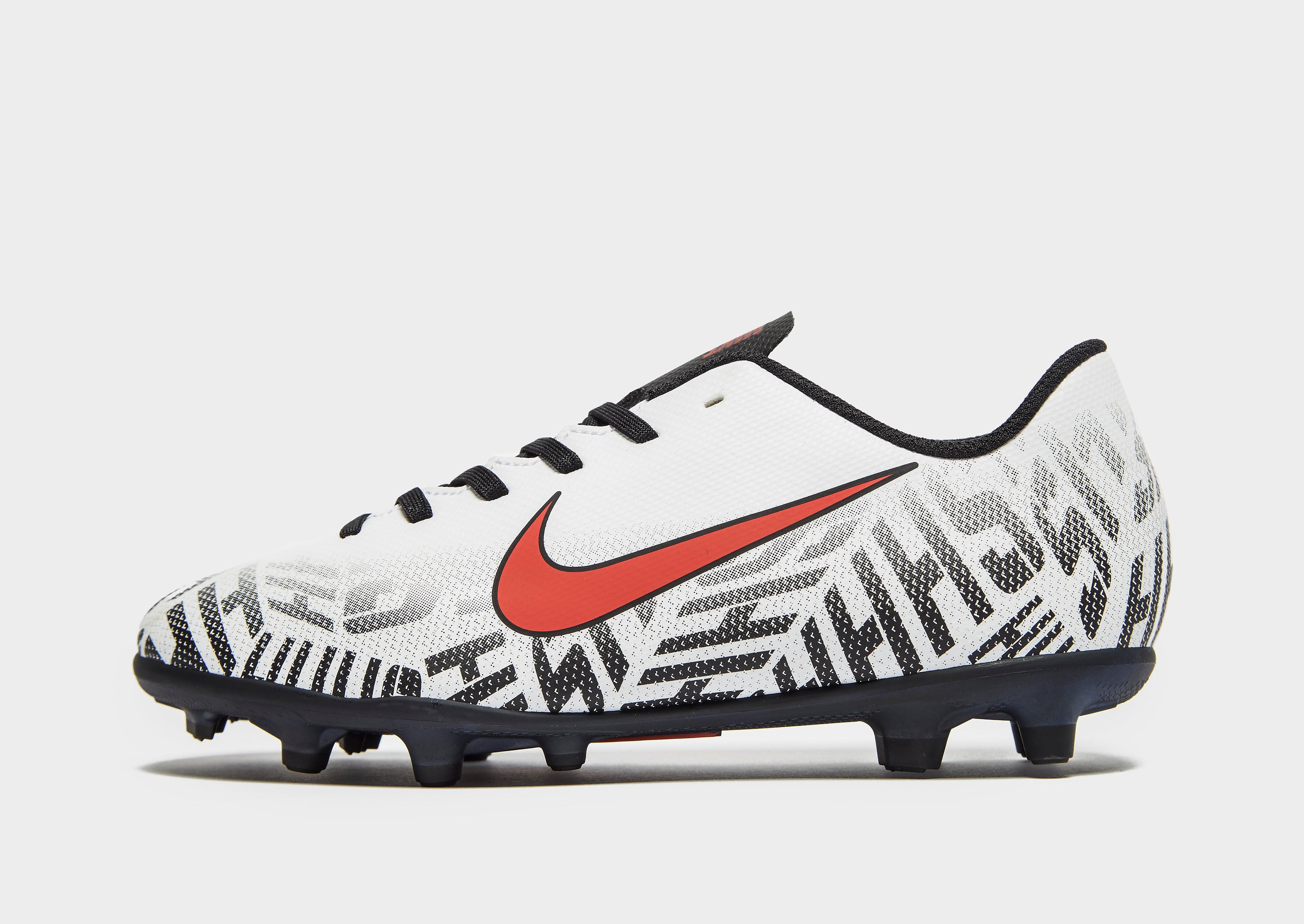 Nike Silencio Mercurial Vapor Club Neymar Jr FG Junior - Wit - Kind