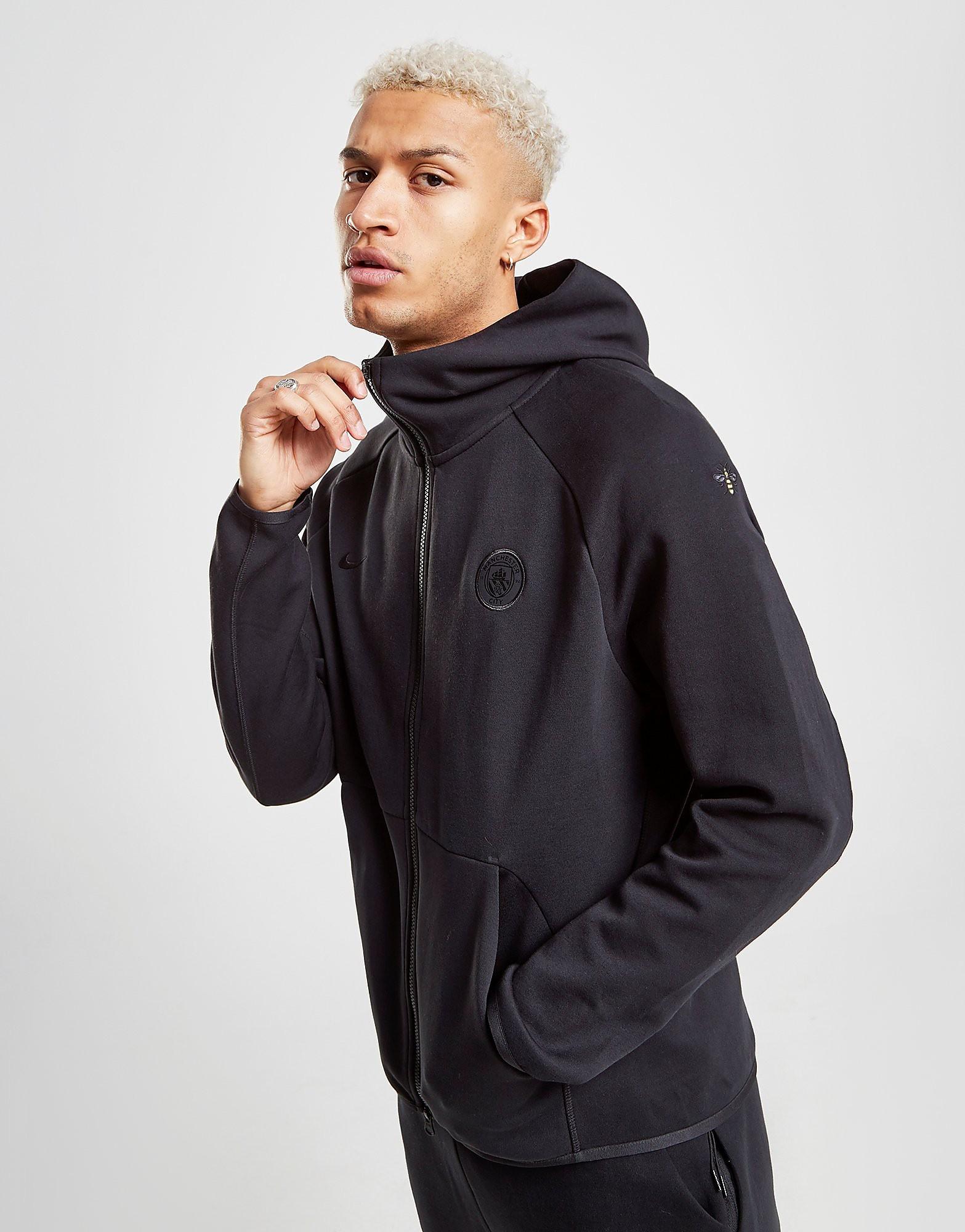 Nike Sportswear Manchester City FC Tech Fleece Hoodie Heren - Zwart - Heren