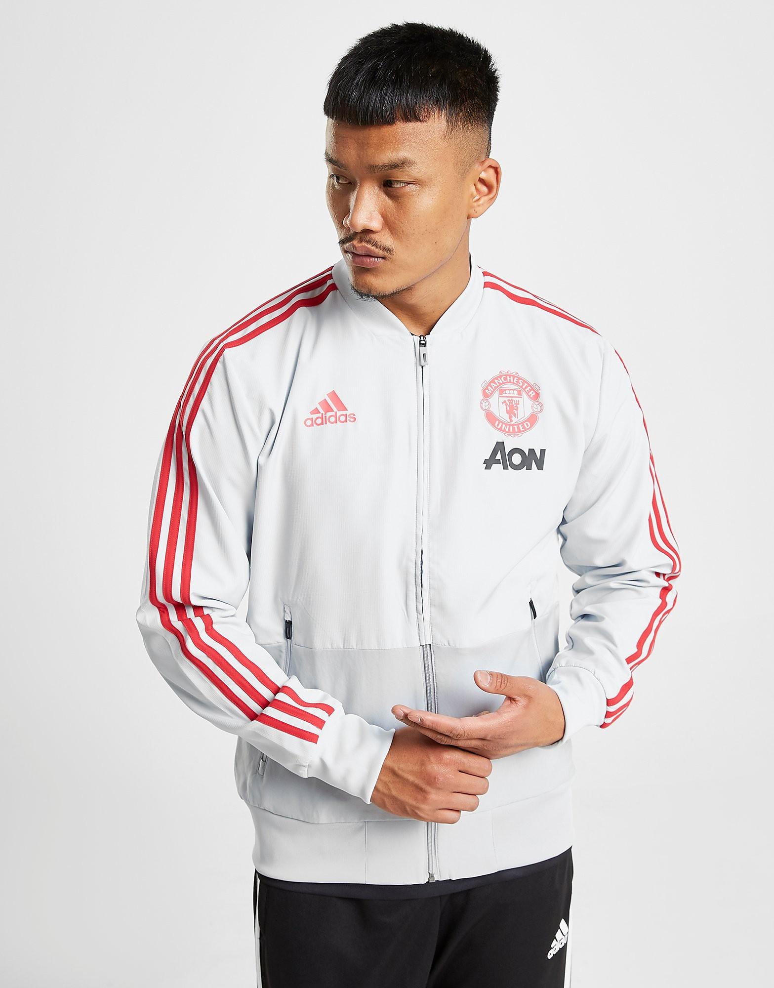adidas Manchester United FC Presentation Jacket Heren - Wit - Heren