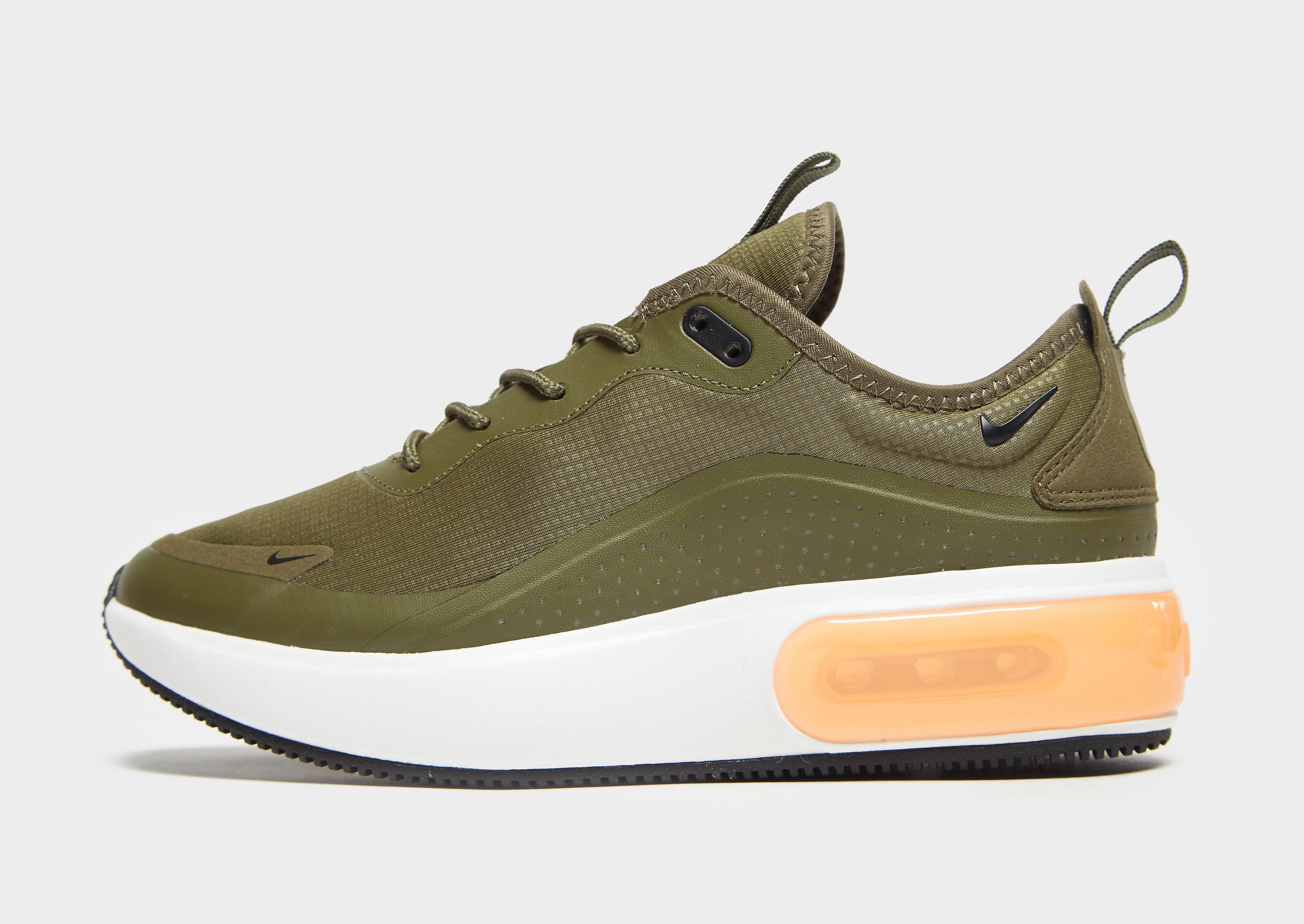 Nike Air Max Dia damessneaker groen en oranje