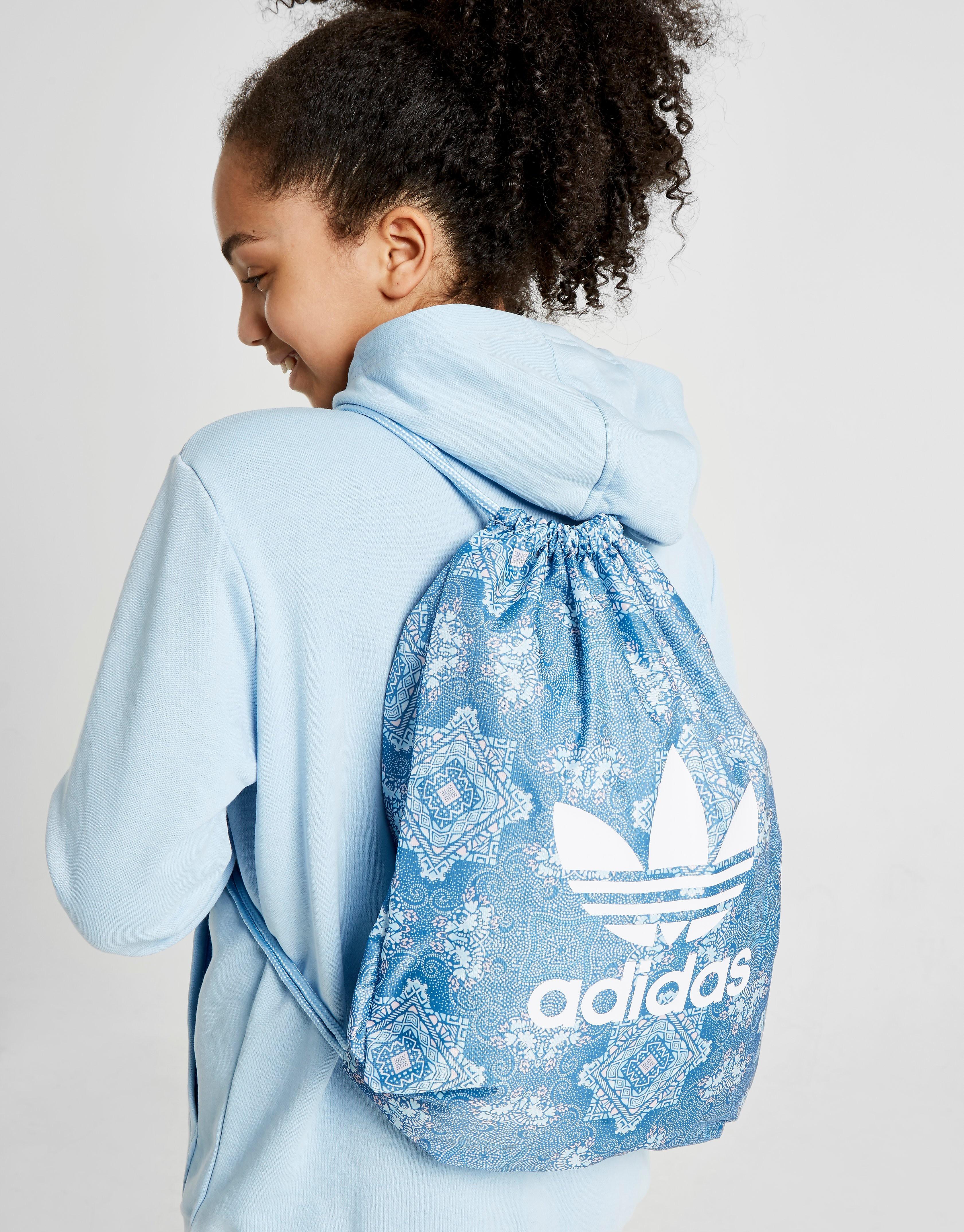 Adidas sporttas blauw en wit