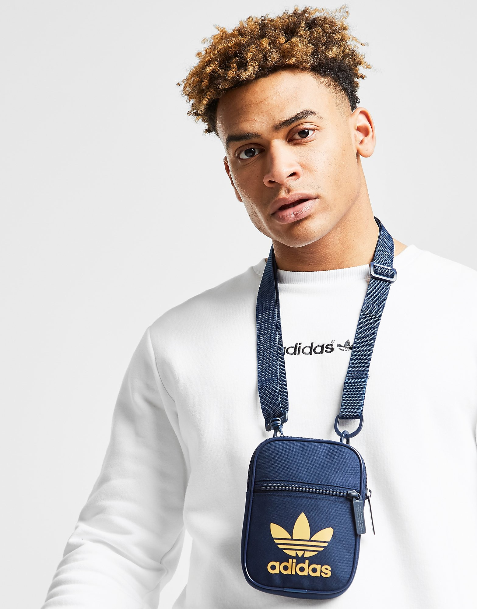 Adidas crossbodytas blauw