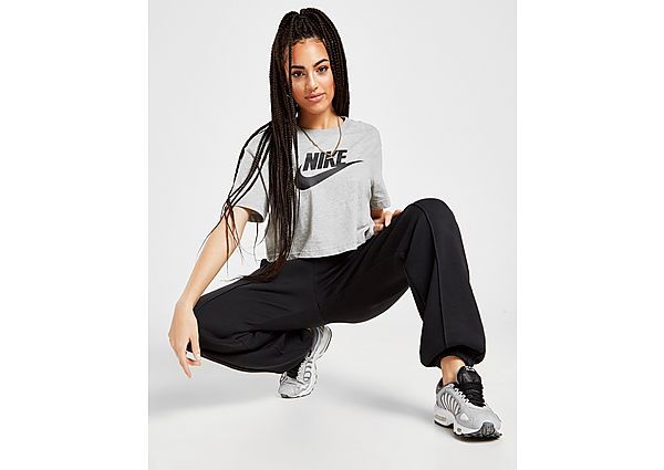 Ropa deportiva Mujer Nike camiseta crop Essential Futura, Black