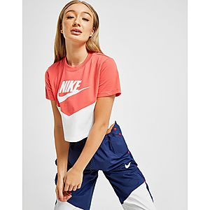 Nike Sportswear Heritage Colour Block Crop T-Shirt ... 2383df554