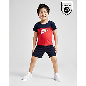 7e9b4c4b390 Nike Futura Colour Block T-Shirt Shorts Set Infant ...