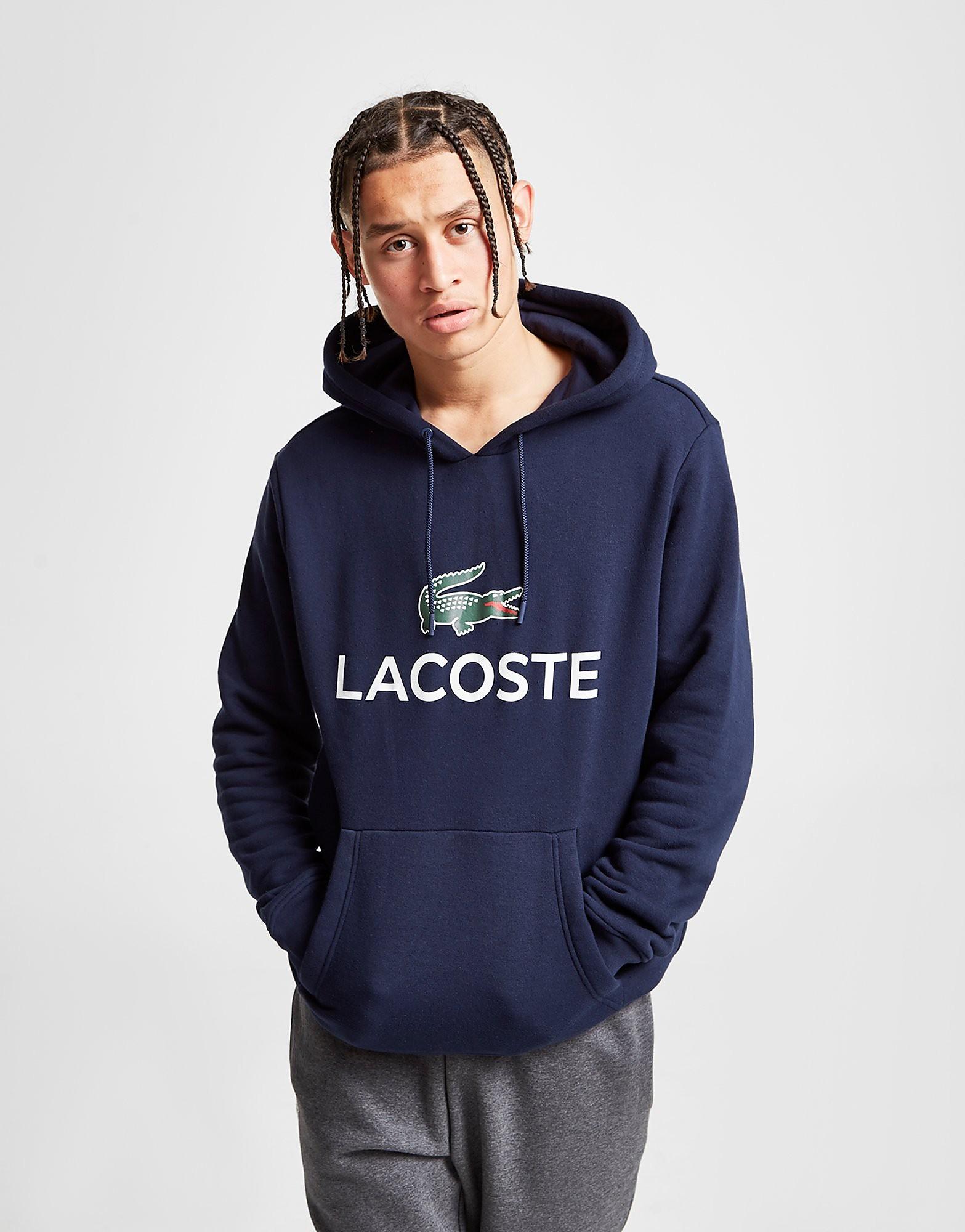 Lacoste Logo Hoodie - Blauw - Heren