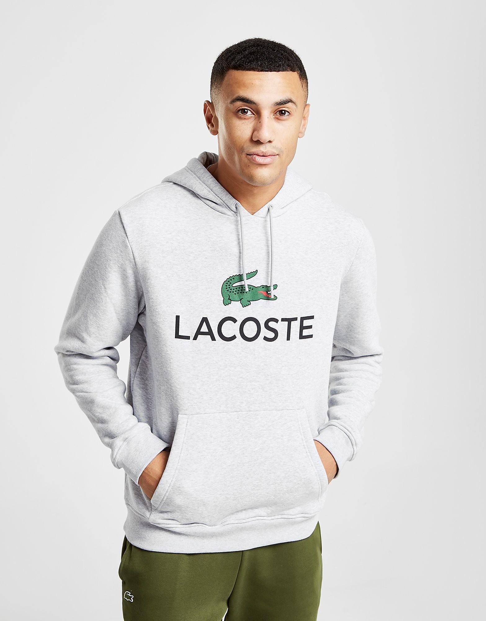 Lacoste Logo Hoodie - Grijs - Heren