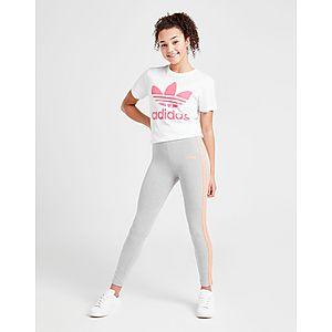 839c387a02d6 ... adidas Originals Girls  Poly Linear Leggings Junior