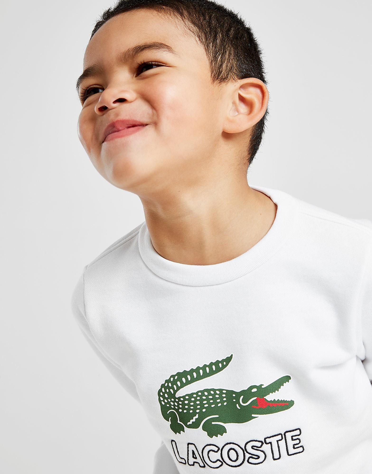 Lacoste VIntage Croc Crew Sweatshirt Kinderen - Wit - Kind