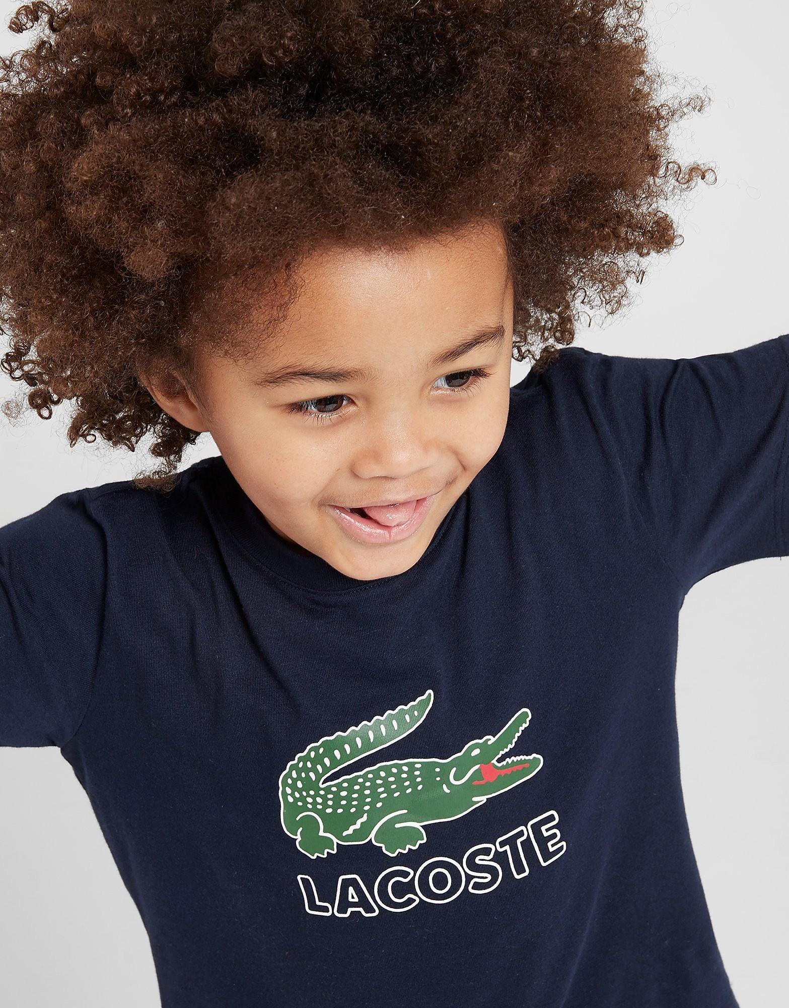 Lacoste Vintage Croc T-Shirt Children - Blauw - Kind
