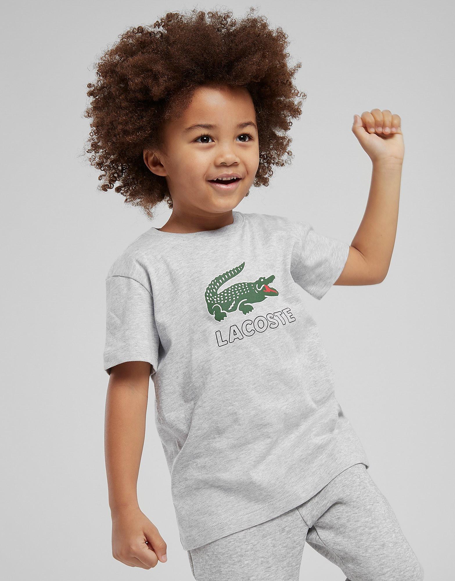Lacoste Vintage Croc T-Shirt Kinderen - Grijs - Kind