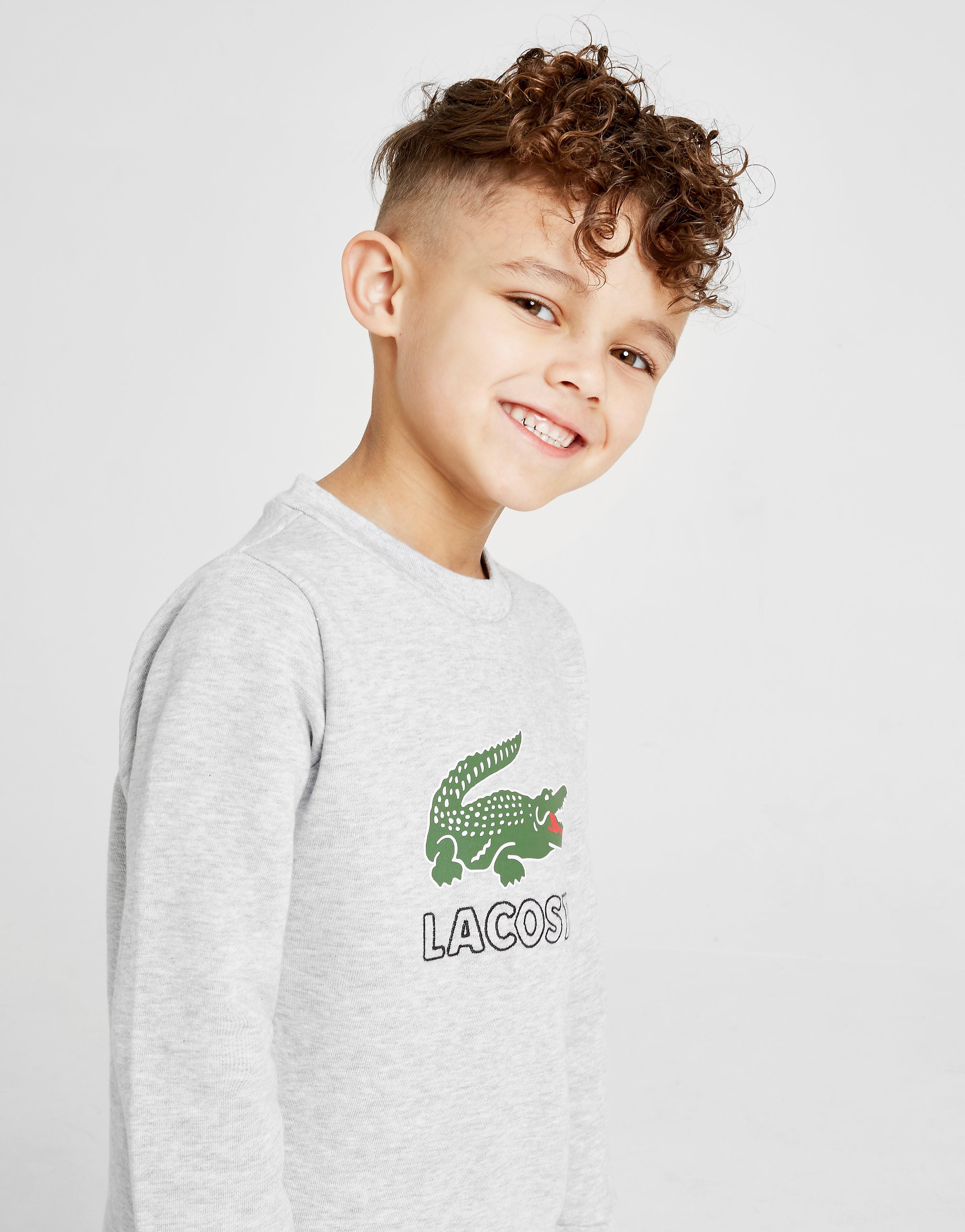 Lacoste Vintage Croc Crew Sweatshirt Children - Grijs - Kind