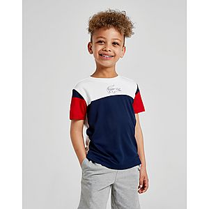 569de7696463eb Lacoste Colour Block Poly Croc T-Shirt Children ...