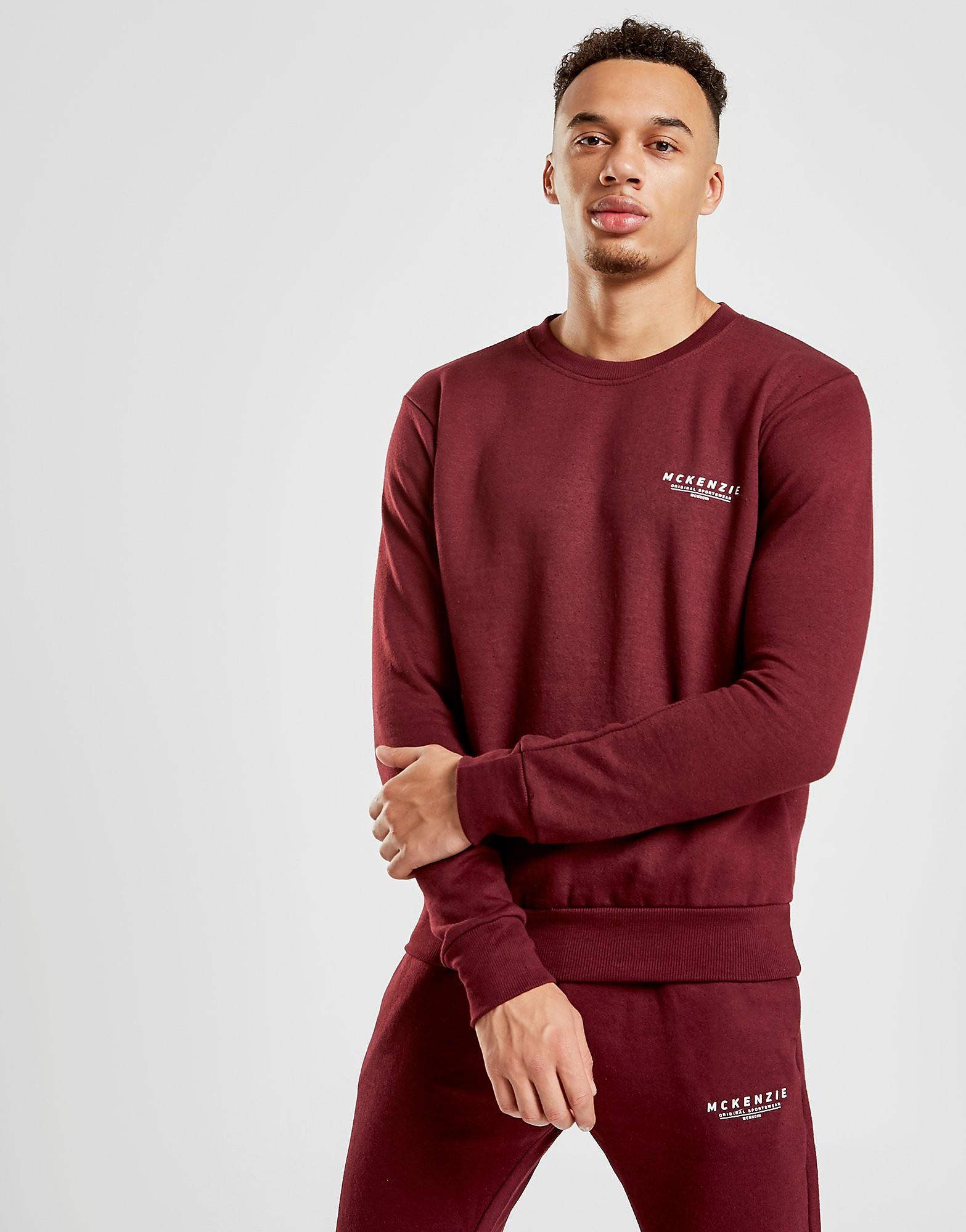 McKenzie Essential Crew Sweatshirt - alleen bij JD - Burgundy - Heren