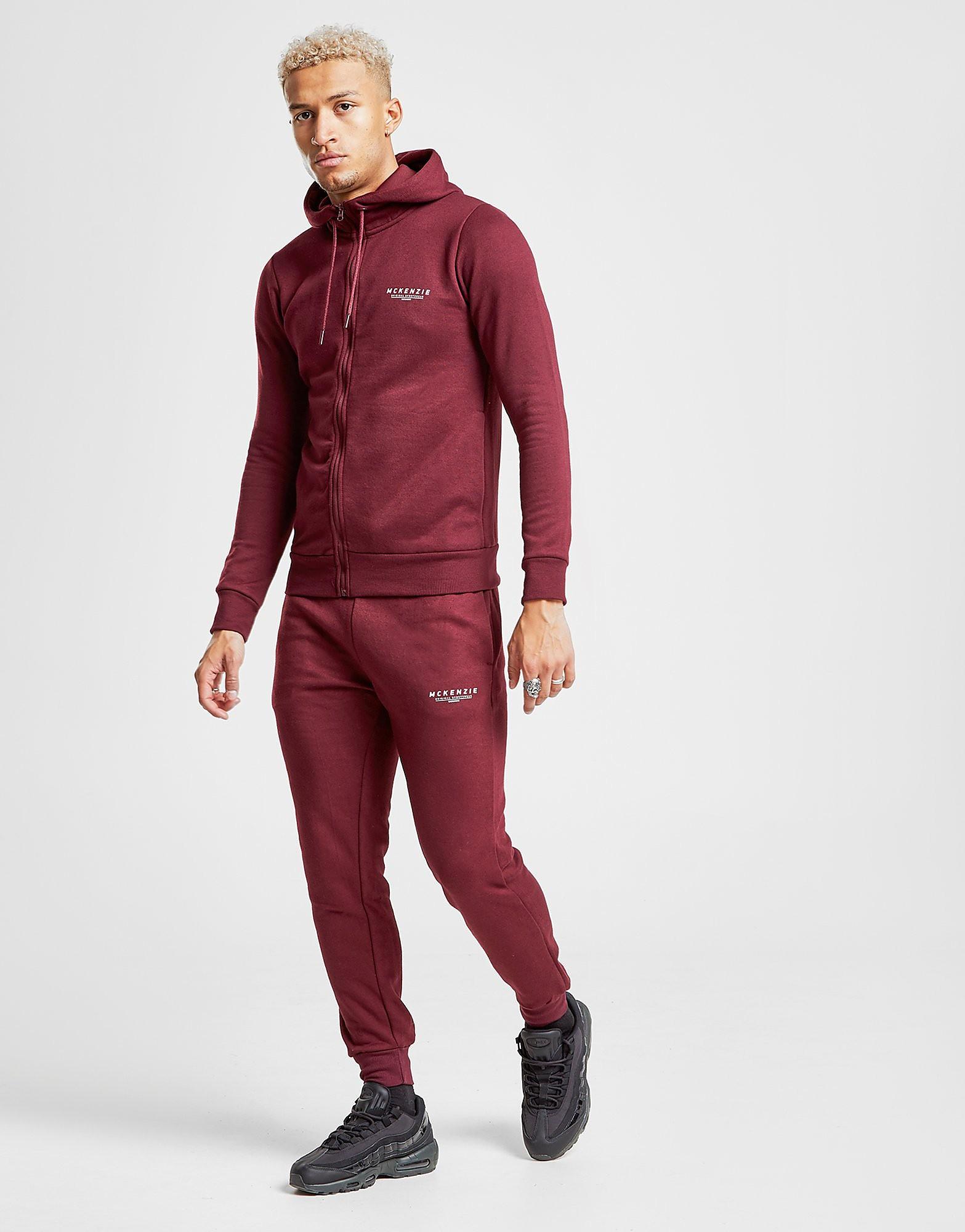 McKenzie Essential Cuffed Track Pants - alleen bij JD - Burgundy/White - Heren