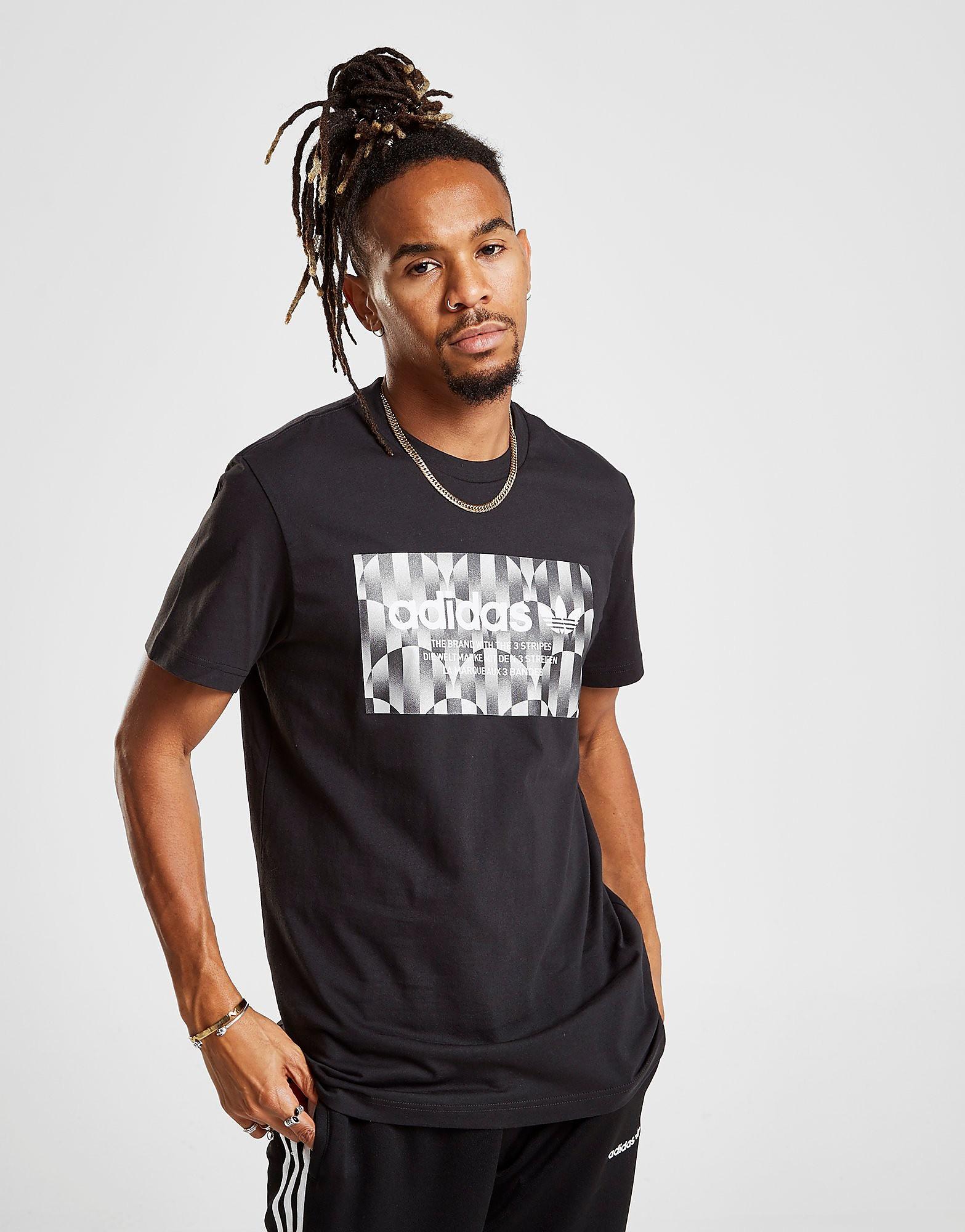 adidas Originals Trefoil Reflective T-Shirt Heren - alleen bij JD - Zwart - Heren