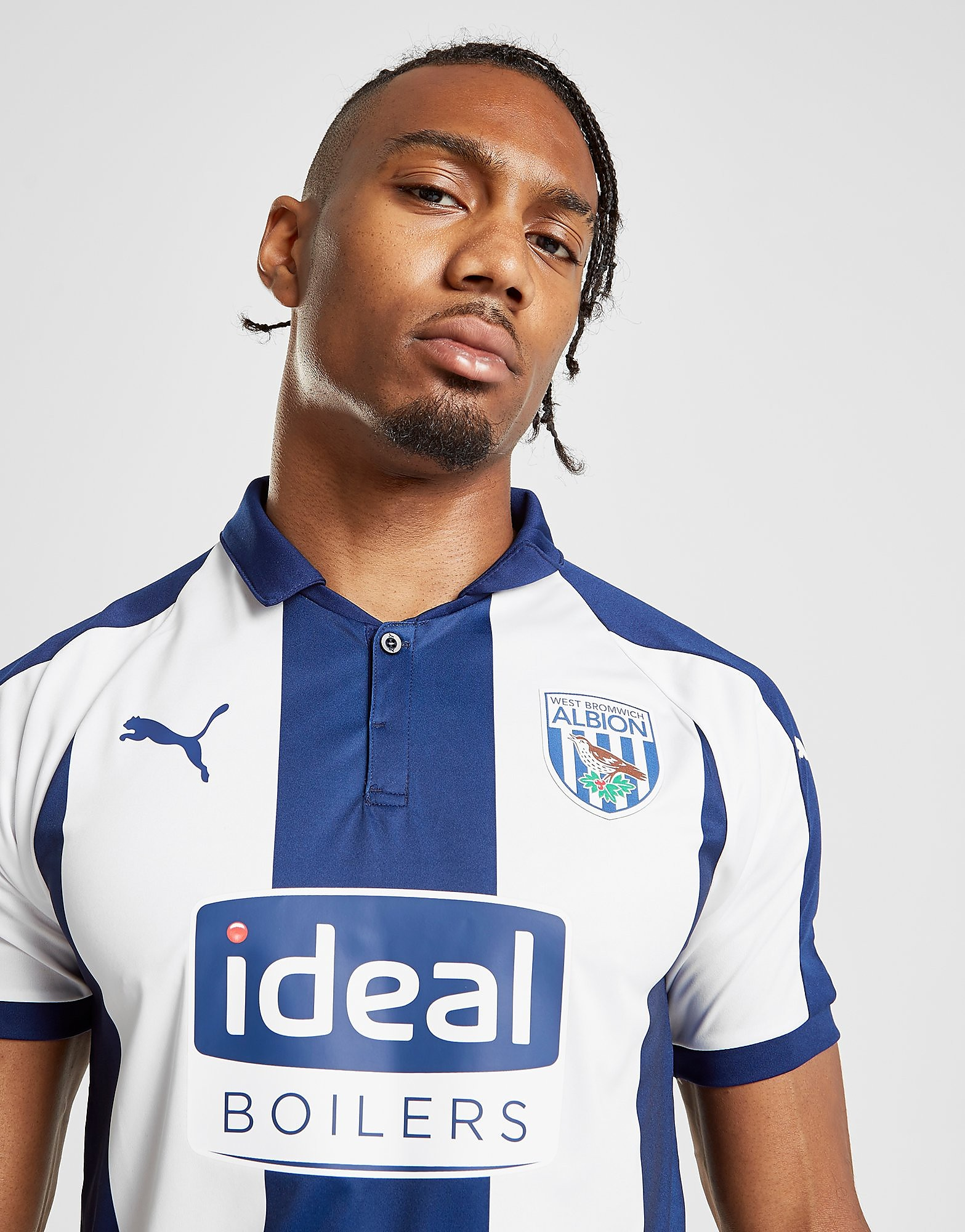 PUMA West Bromwich Albion FC 2018/19 Home Shirt - Wit - Heren