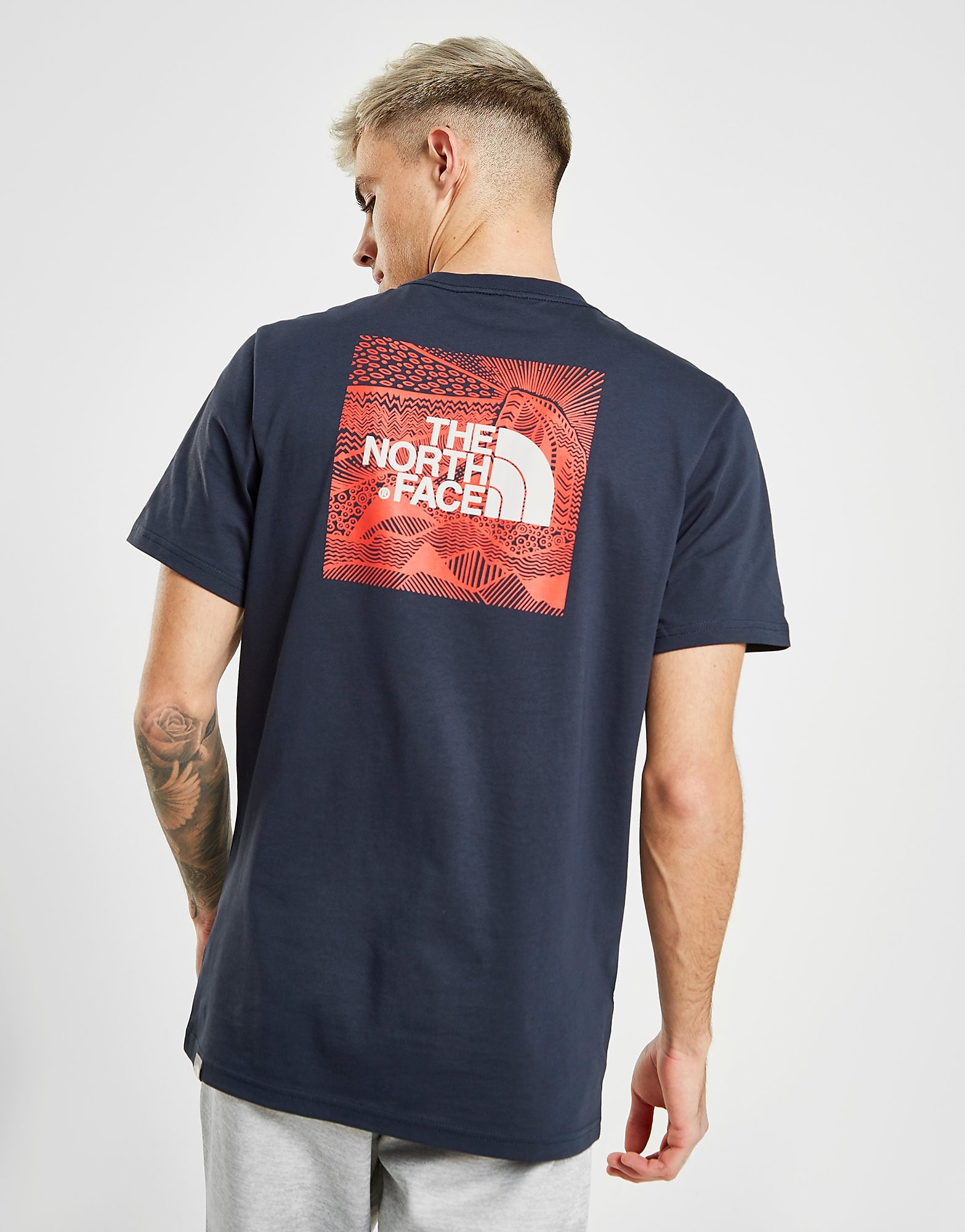 The North Face Redbox Celebration T-Shirt Heren - Blauw - Heren