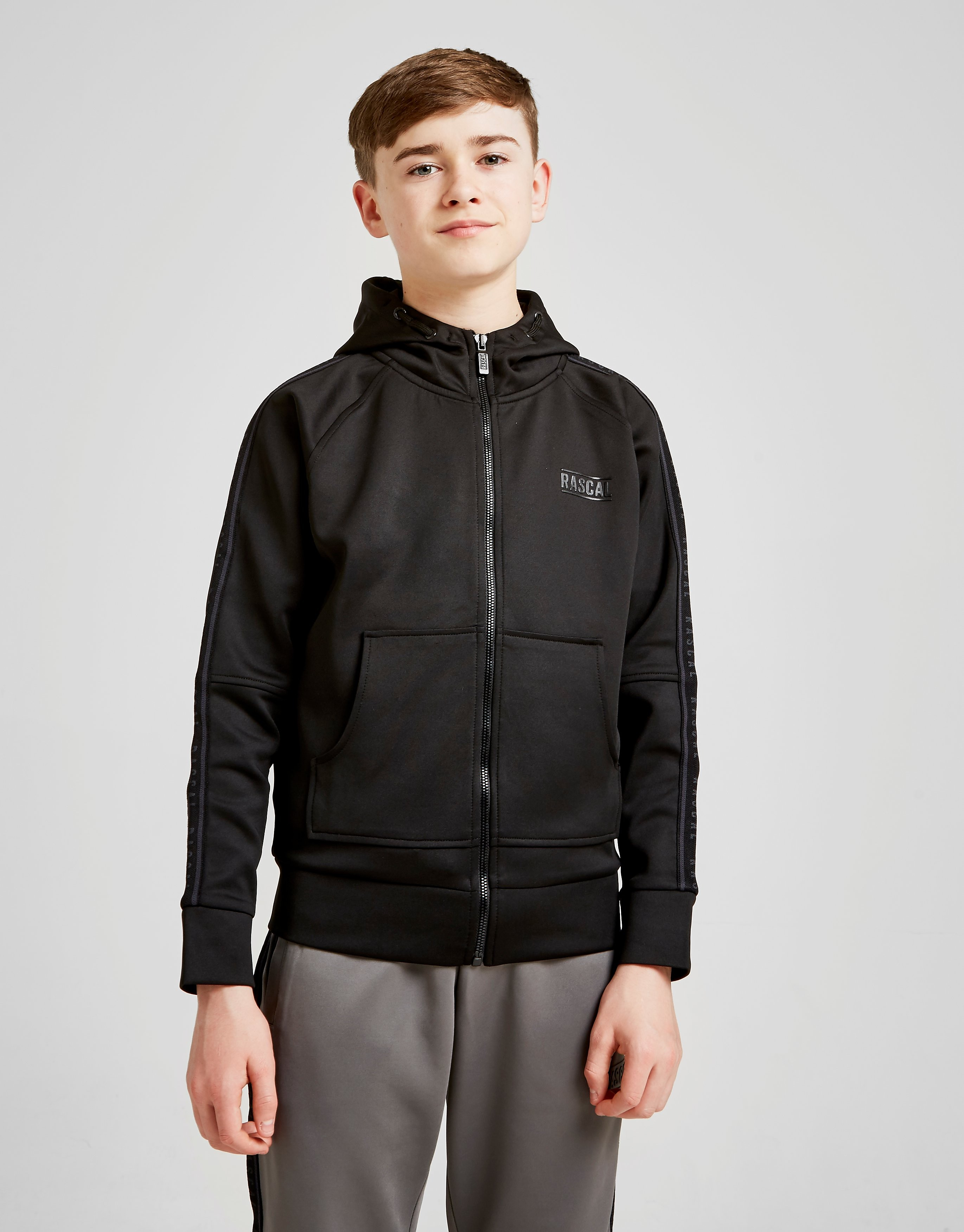 Rascal Echo Poly Full Zip Hoodie Junior - Zwart - Kind