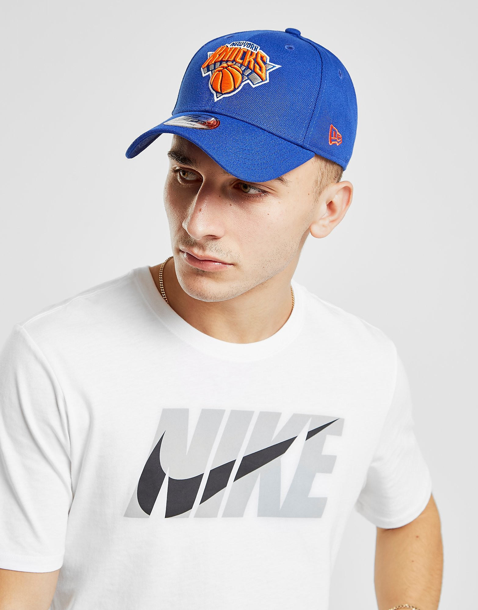 New Era NBA New York Knicks 9FORTY Cap - Blauw - Heren
