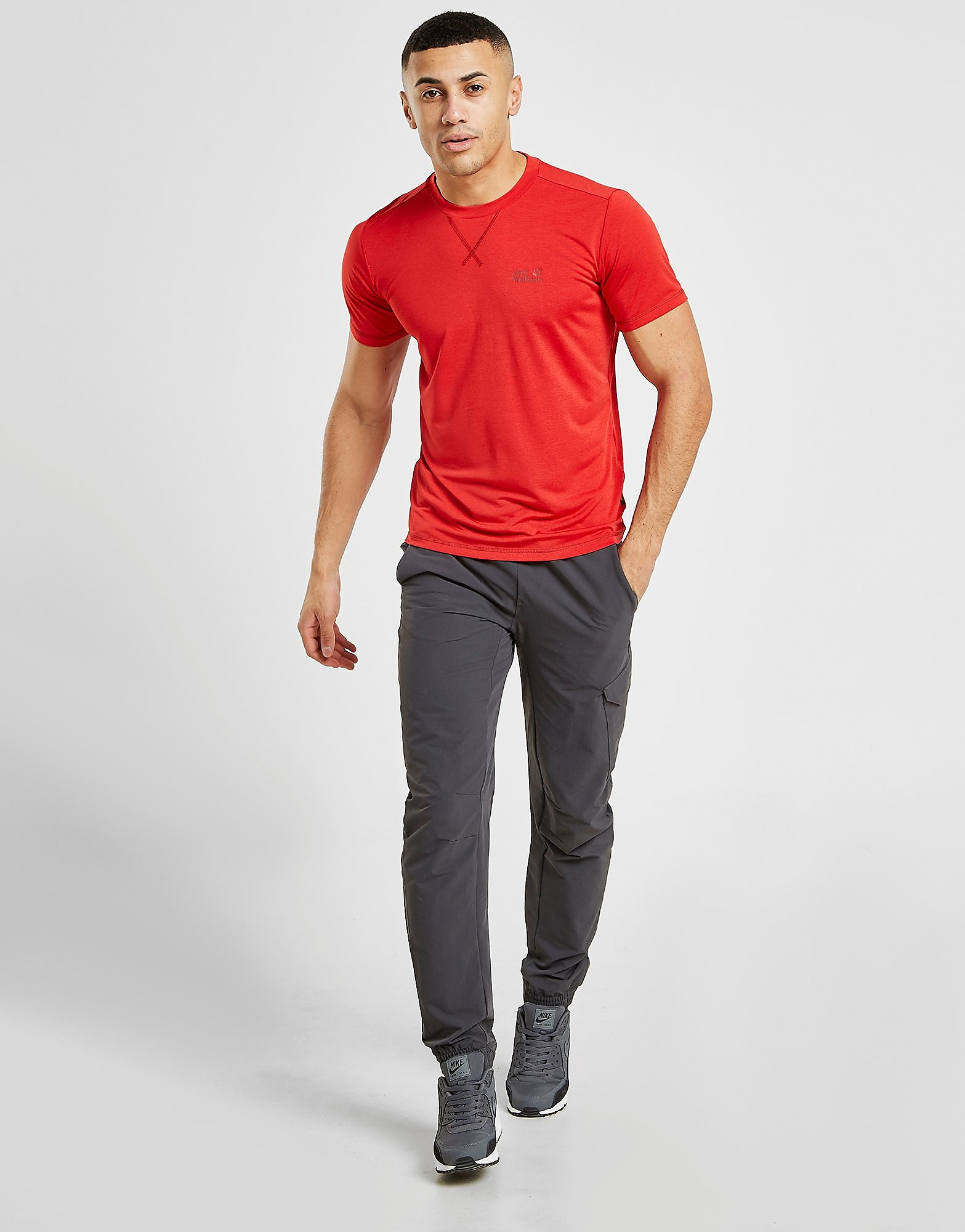 Jack Wolfskin Short Sleeve Core Tech T-Shirt Heren - Rood - Heren