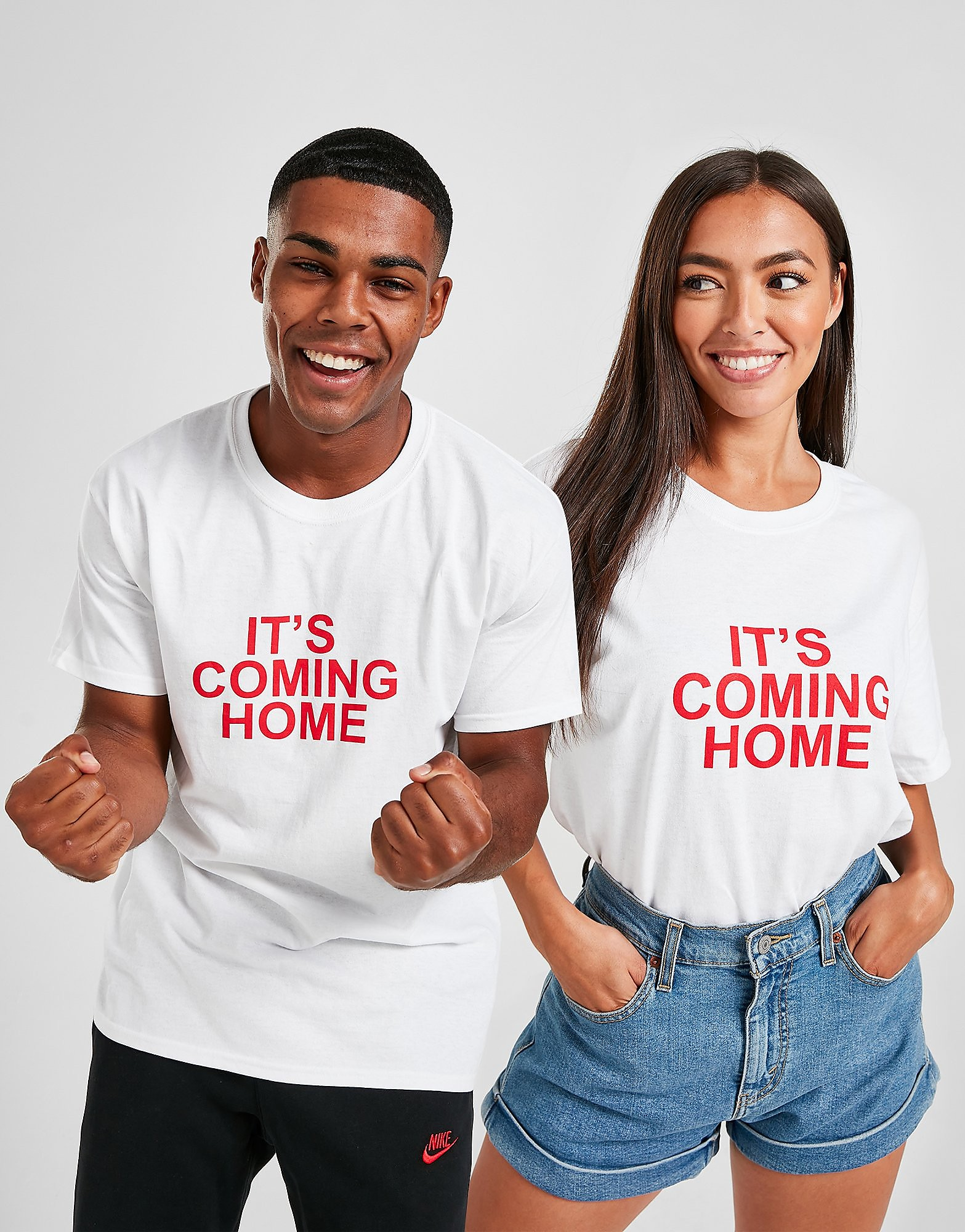 JD England 'It's Coming Home' T-Shirt - Wit - Heren
