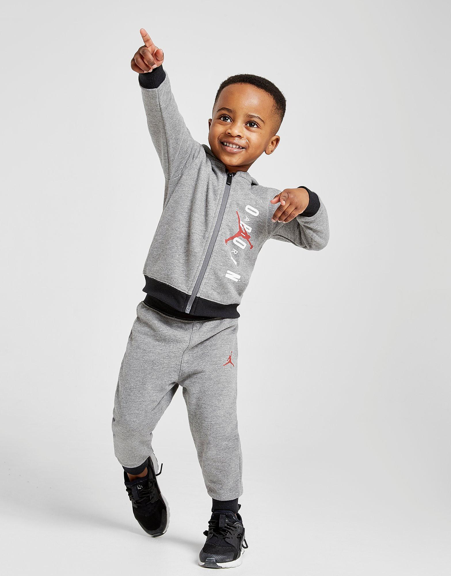 Jordan Full Zip Tracksuit Baby's - Grijs - Kind