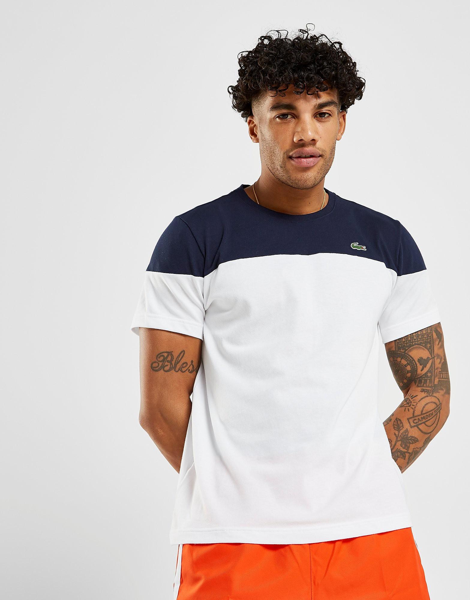 Lacoste Upper Panel T-Shirt - alleen bij JD - Wit - Heren