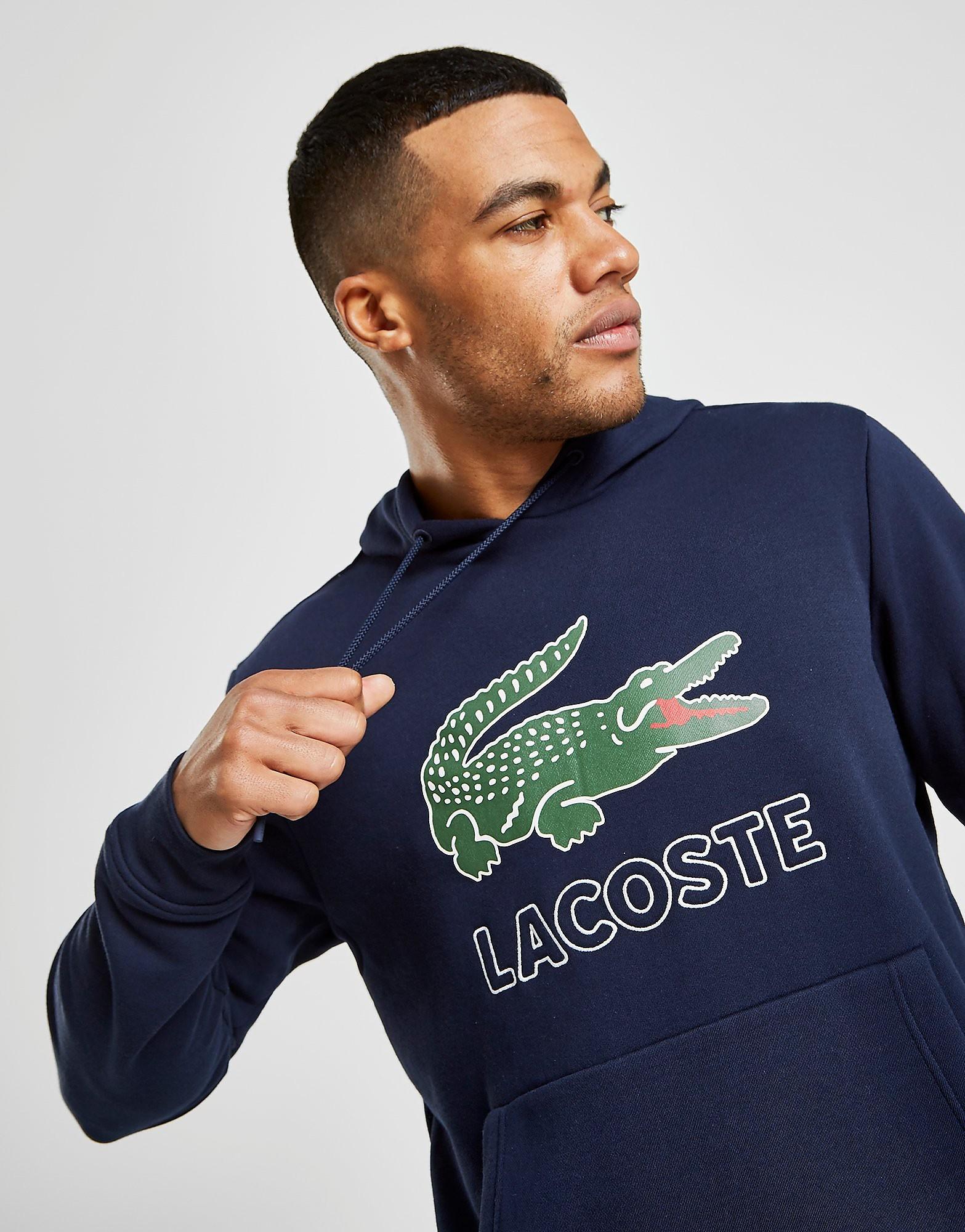 Lacoste Large Logo Vintage Hoodie Heren - Blauw - Heren
