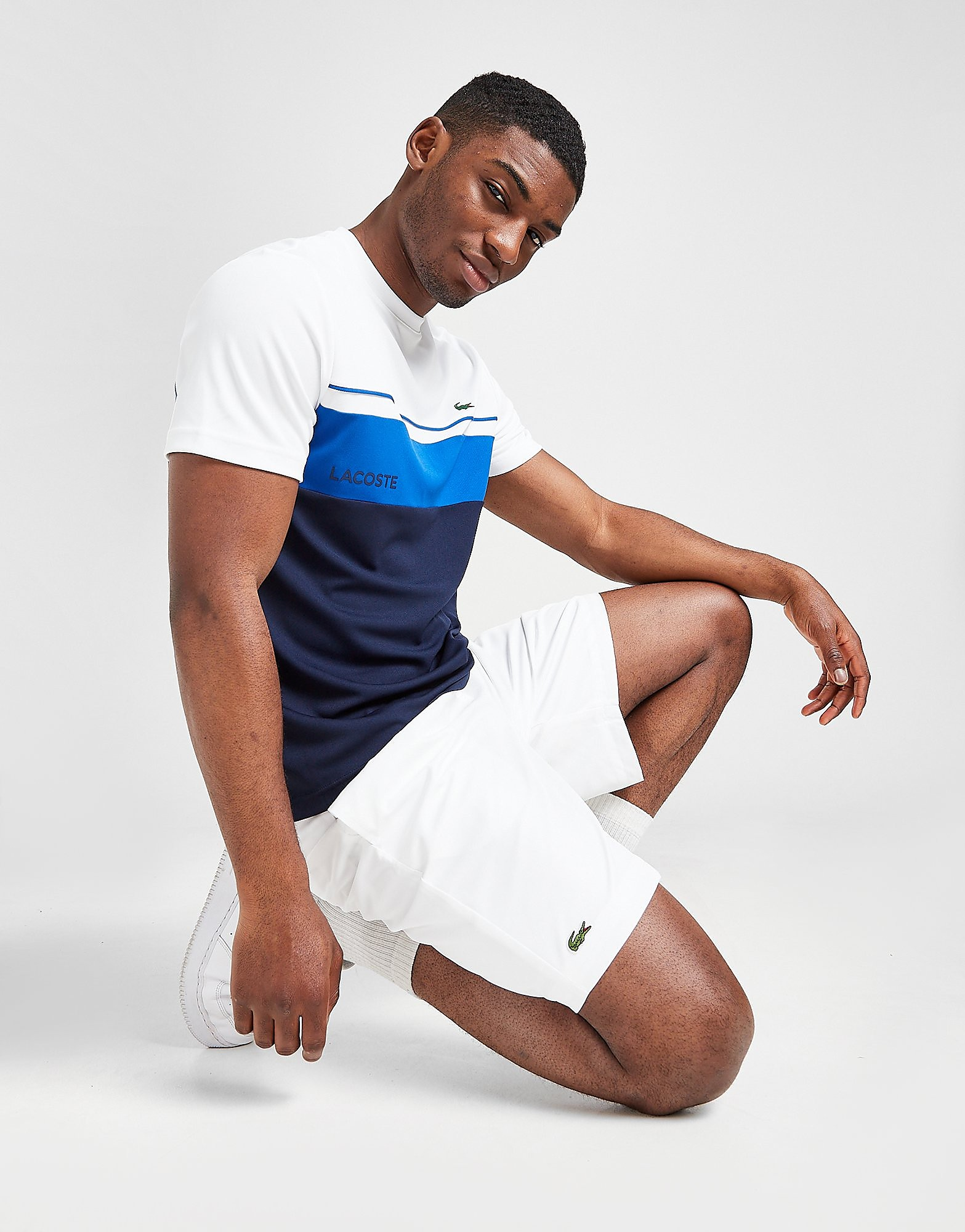 Lacoste Fleece Core Shorts Heren - Wit - Heren