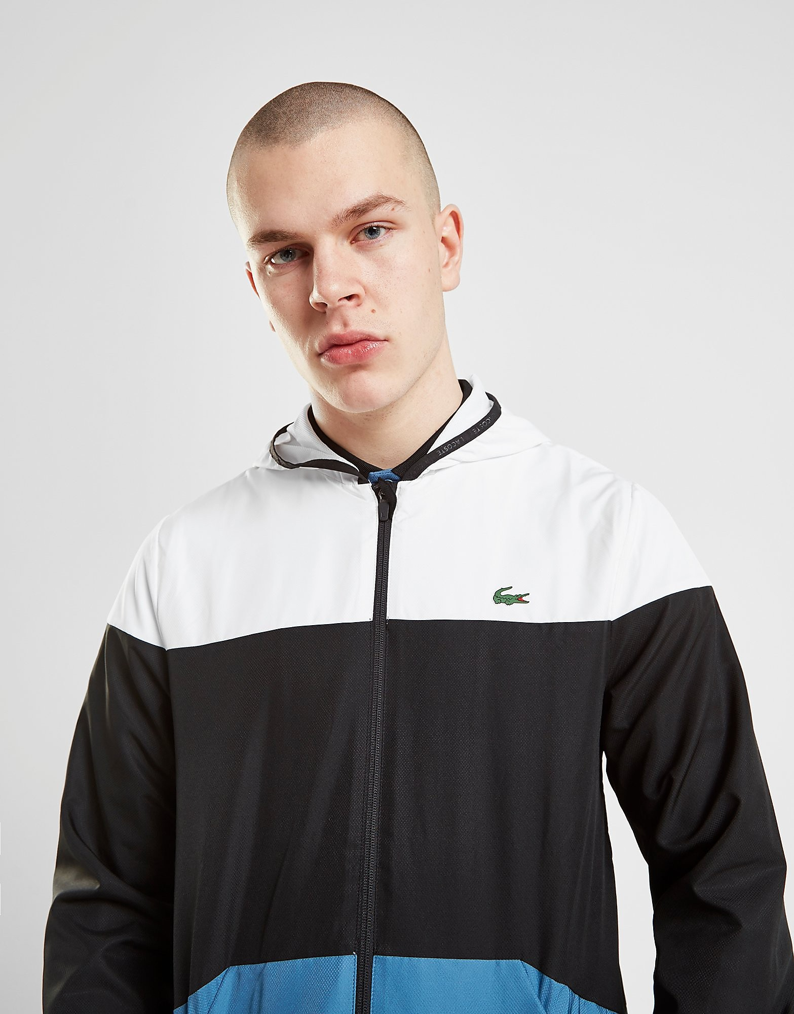 Lacoste Sport Colour Block Windbreaker Jacket Heren - Wit - Heren