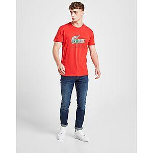 af41c1ac70f ... Lacoste Large Crocodile Logo Vintage T-Shirt