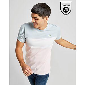 7c2349dbb82 Lacoste Tri Colour Block T-Shirt ...