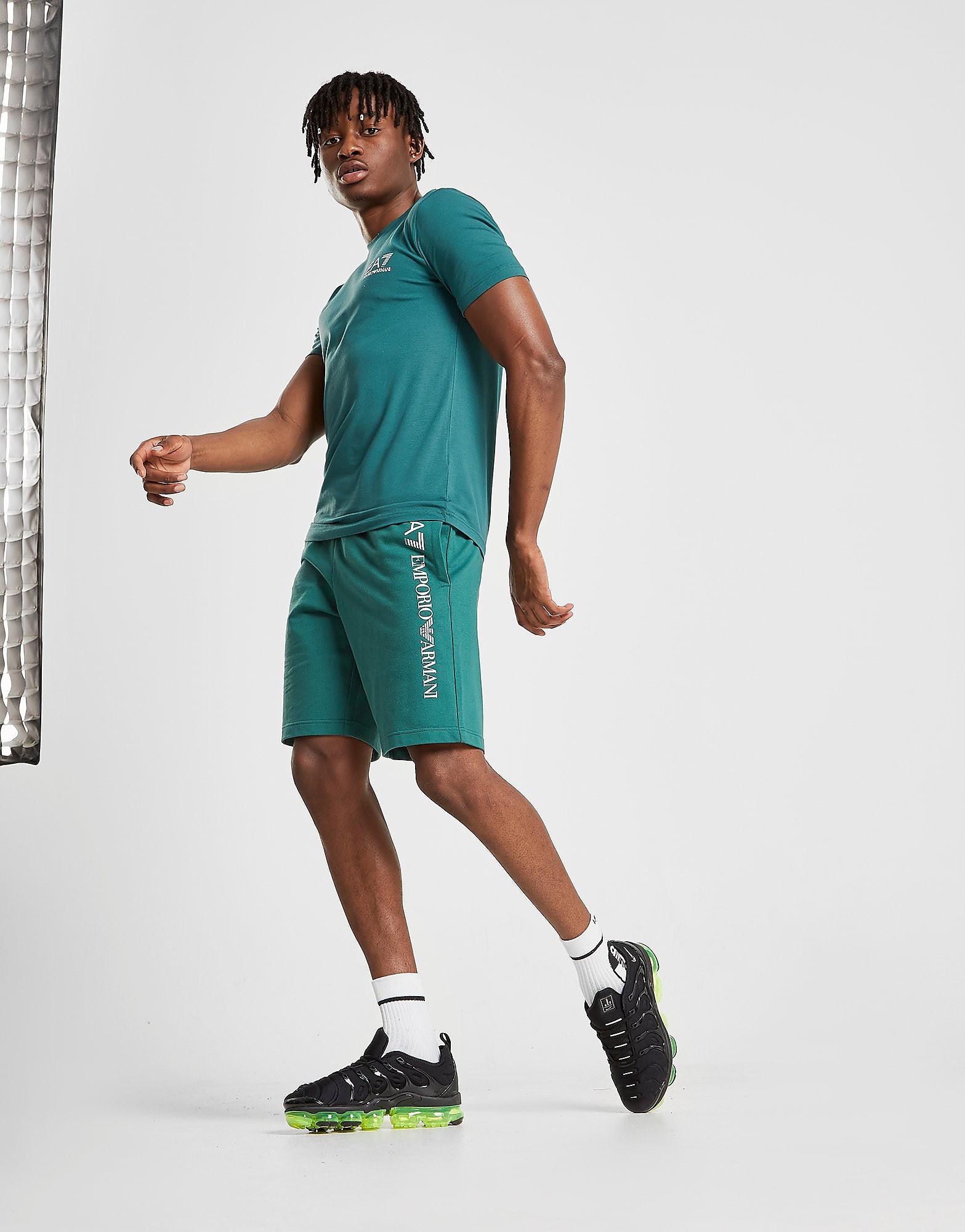 Emporio Armani EA7 Leg Logo Shorts Heren - Groen - Heren