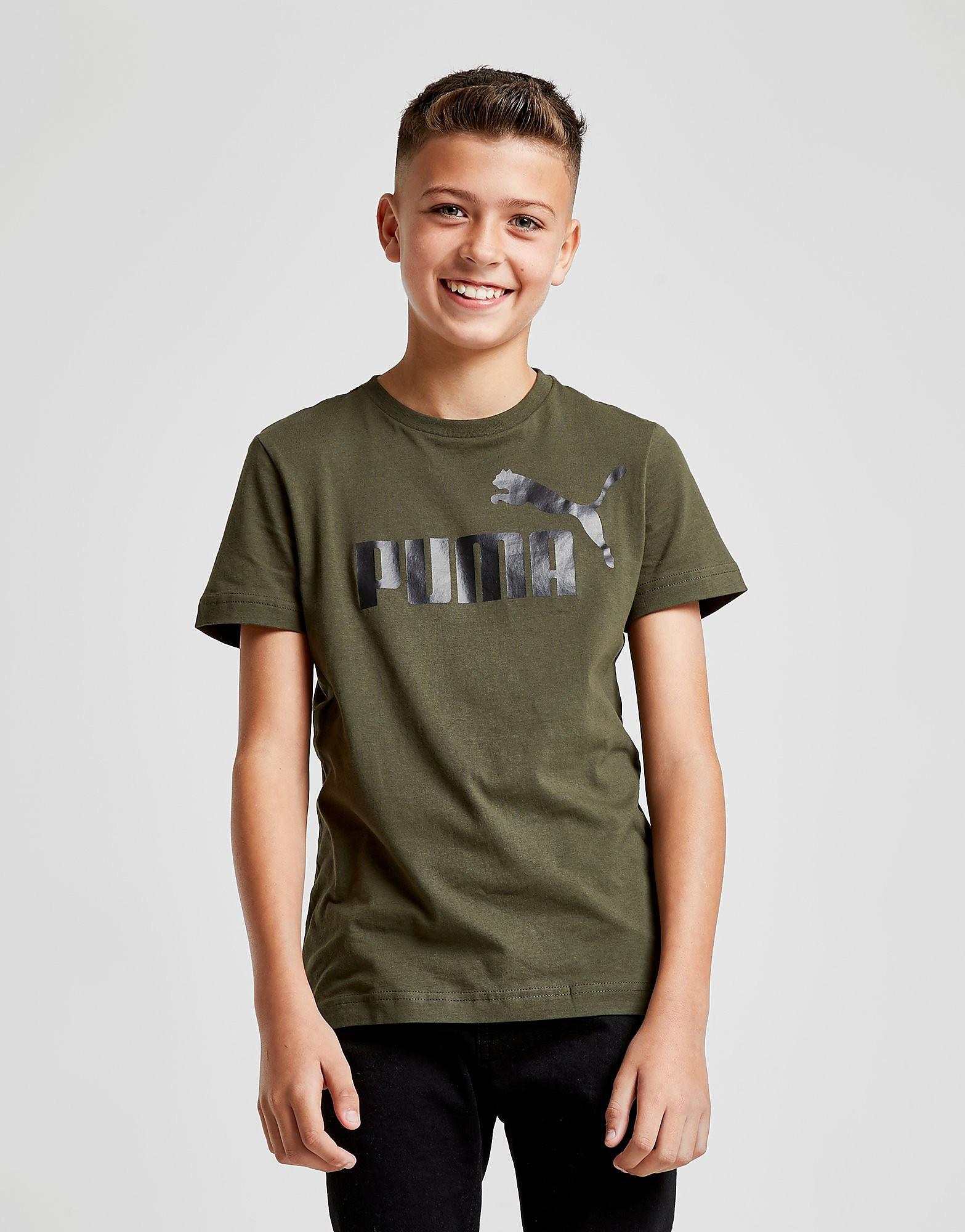 PUMA Logo T-Shirt Junior - Groen - Kind