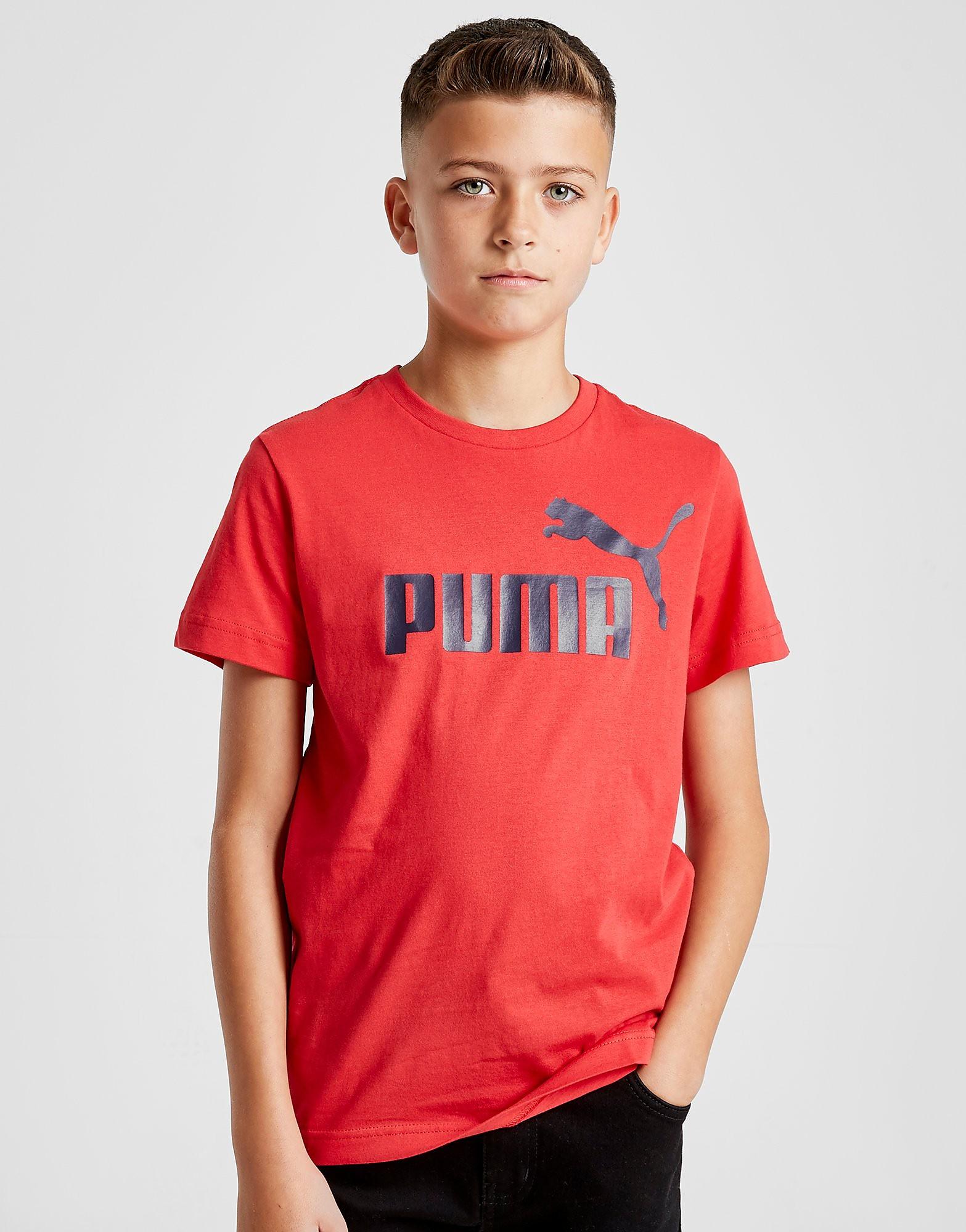 PUMA Essential Logo T-Shirt Junior - Rood - Kind