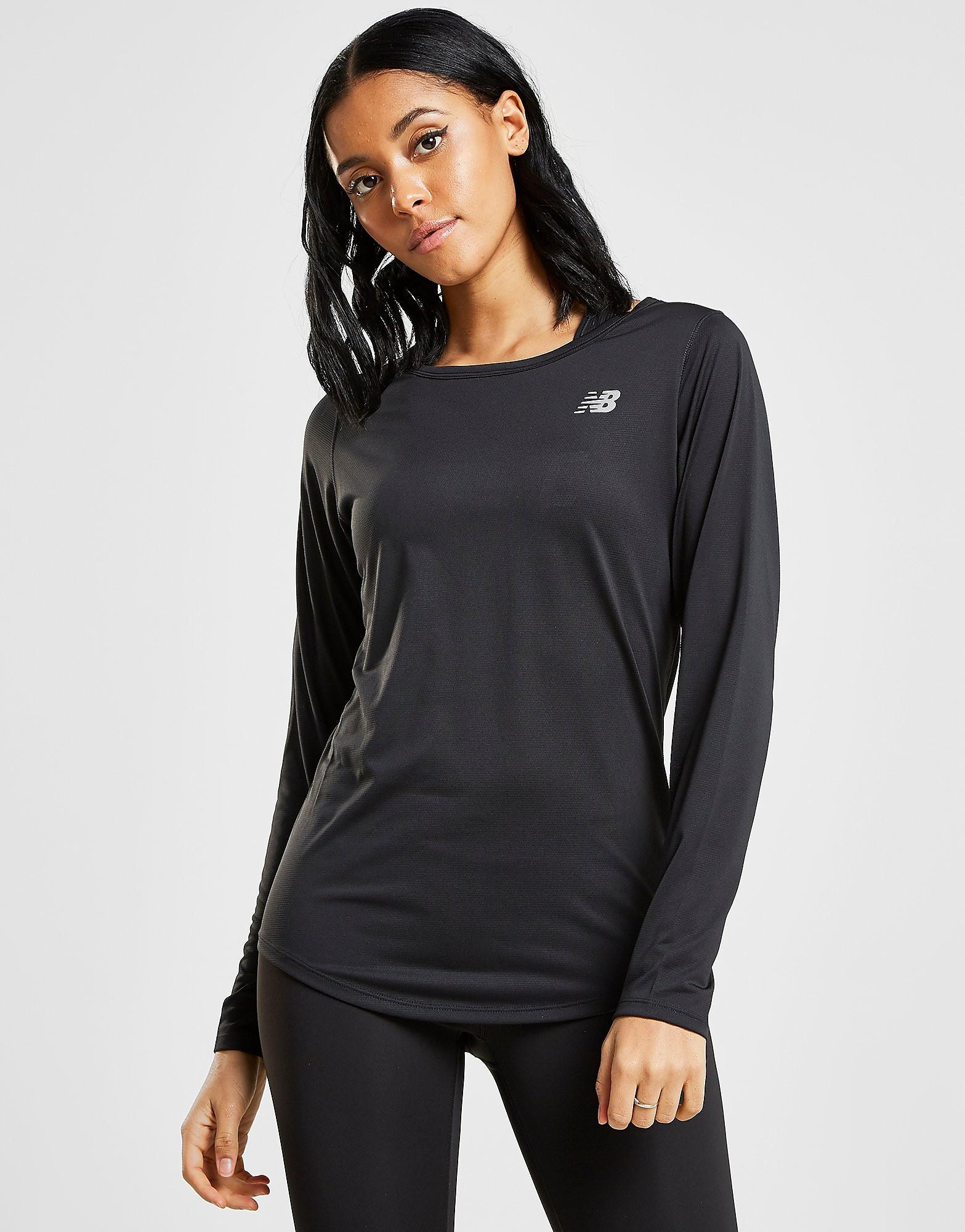 New Balance Core Long Sleeve T-Shirt Dames - Zwart - Dames