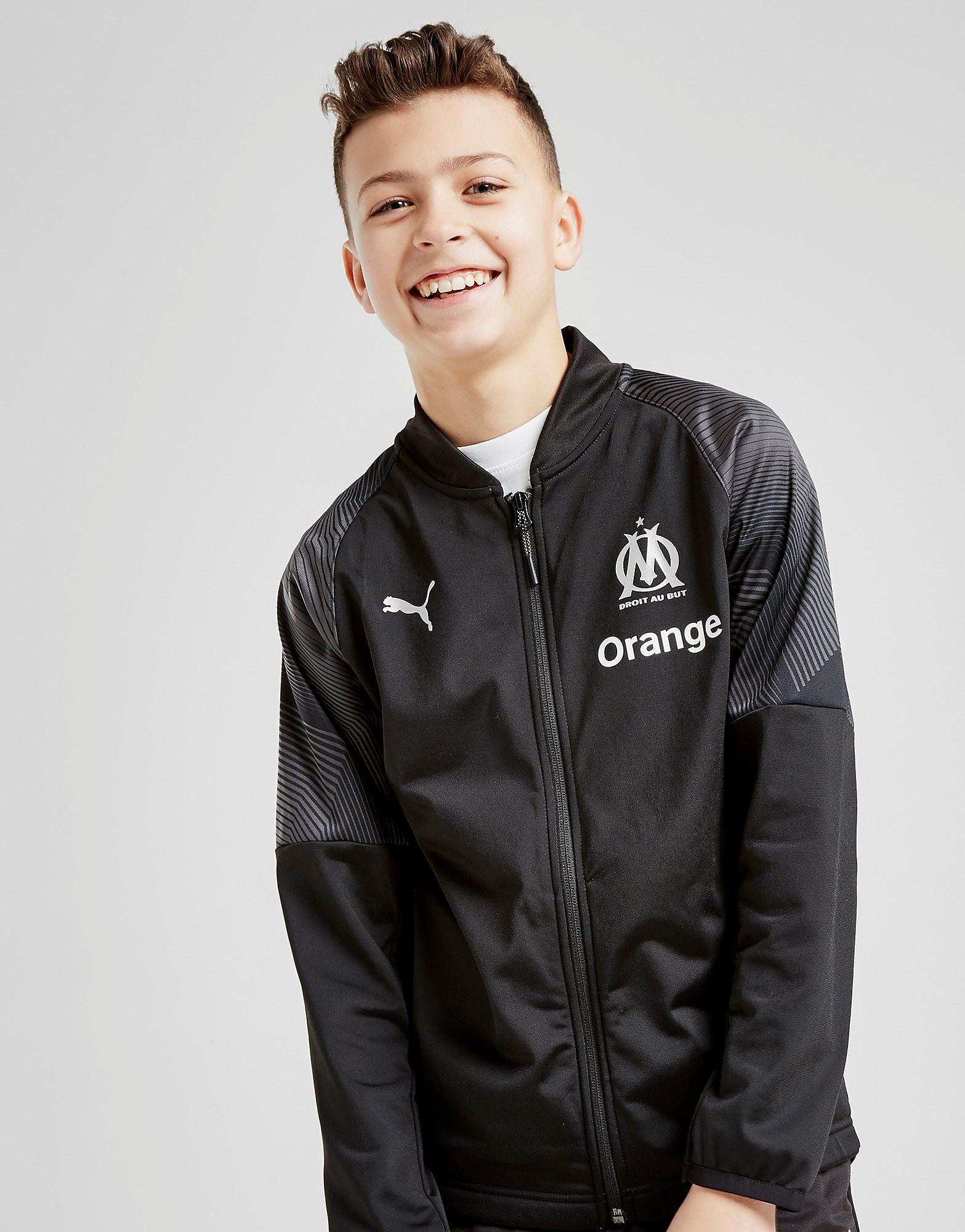 PUMA Olympique Marseille Stadium Jacket Junior - Zwart - Kind