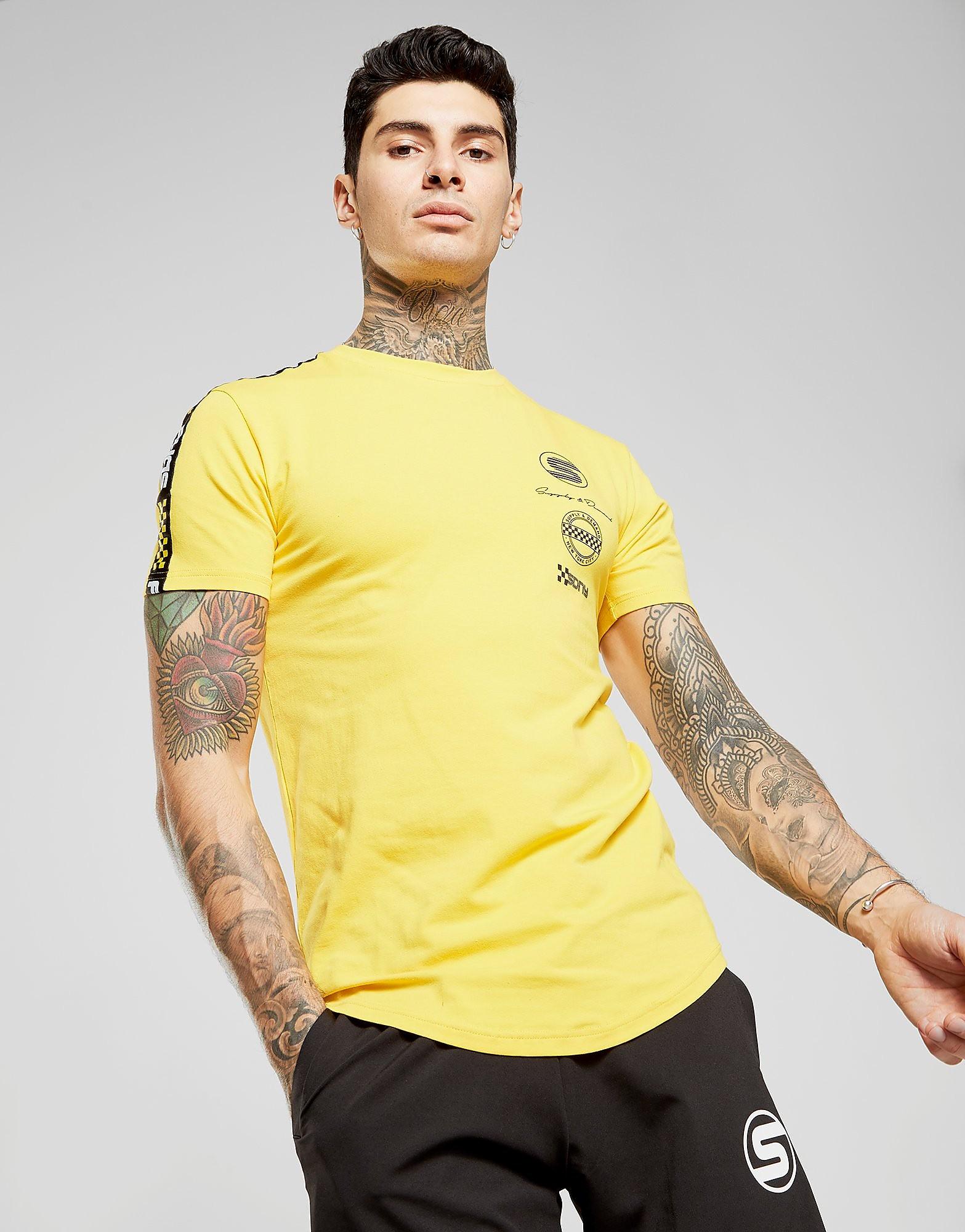 Supply & Demand Tape T-Shirt - Geel - Heren