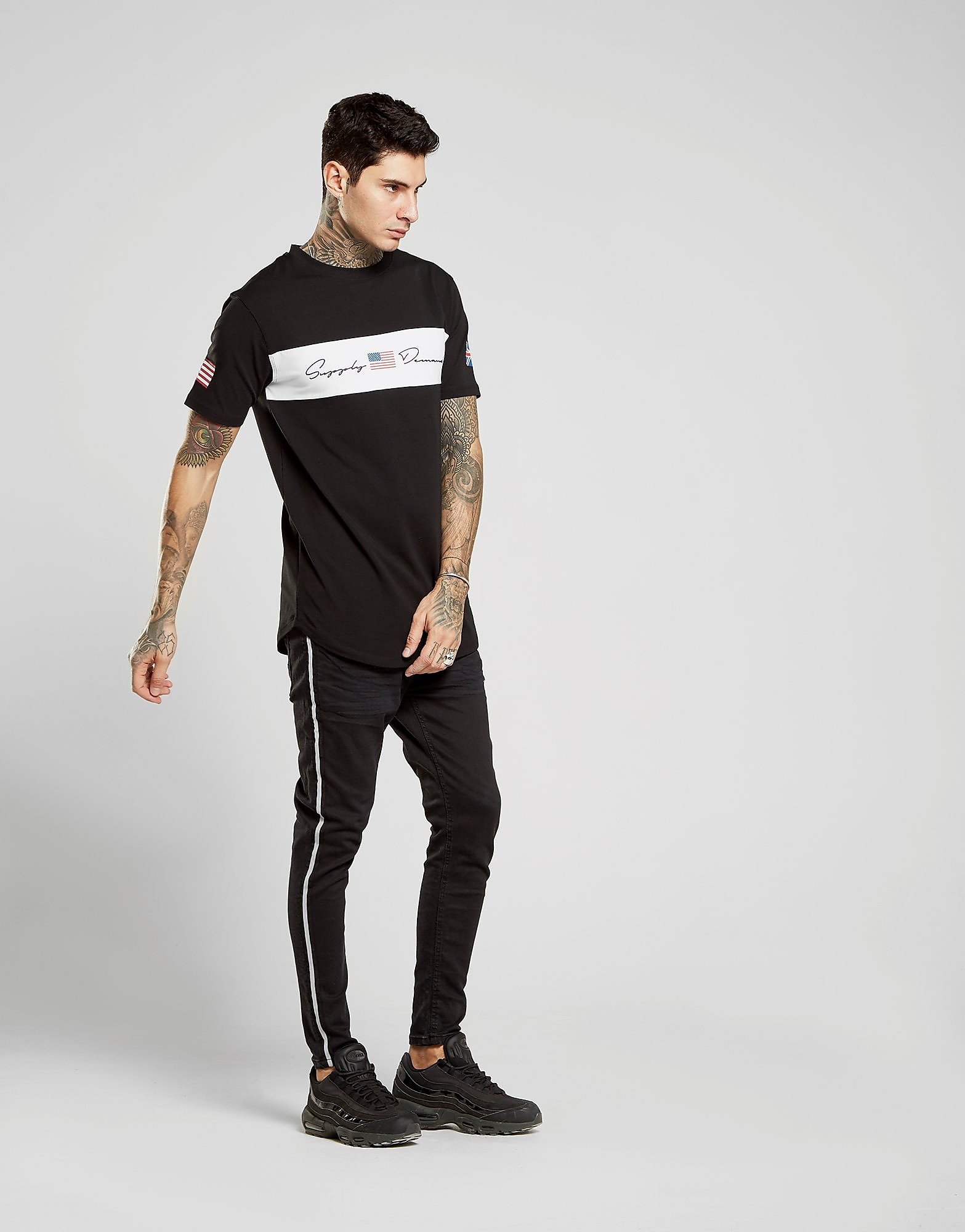 Supply & Demand Ronnie Tape Skinny Jeans Heren - Zwart - Heren