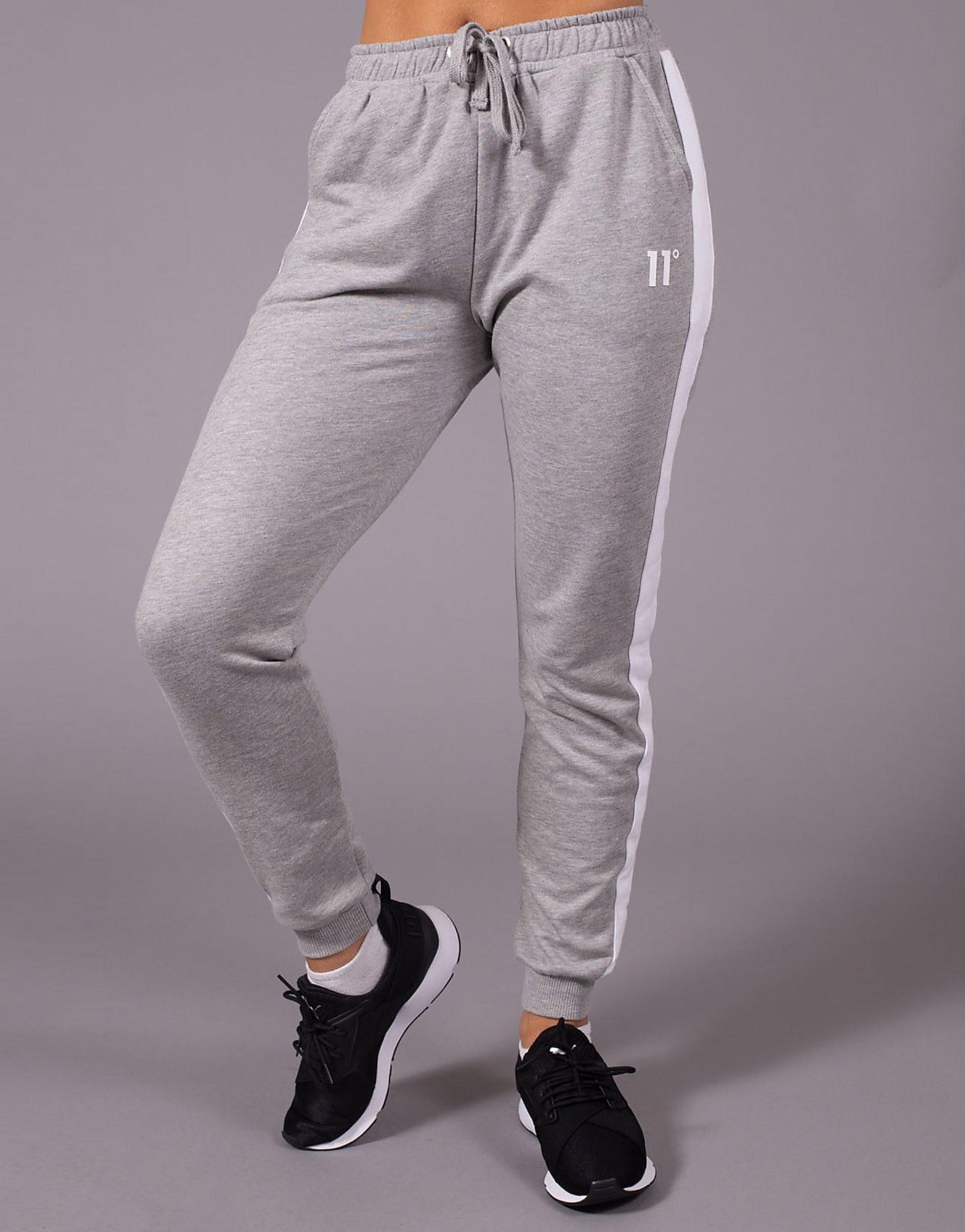 11 Degrees Panel Fleece Track Pants - Grijs - Dames
