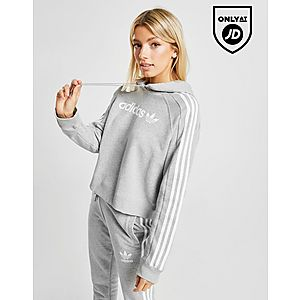 5253d0159ccf1 adidas Originals 3-Stripes Linear Overhead Hoodie ...