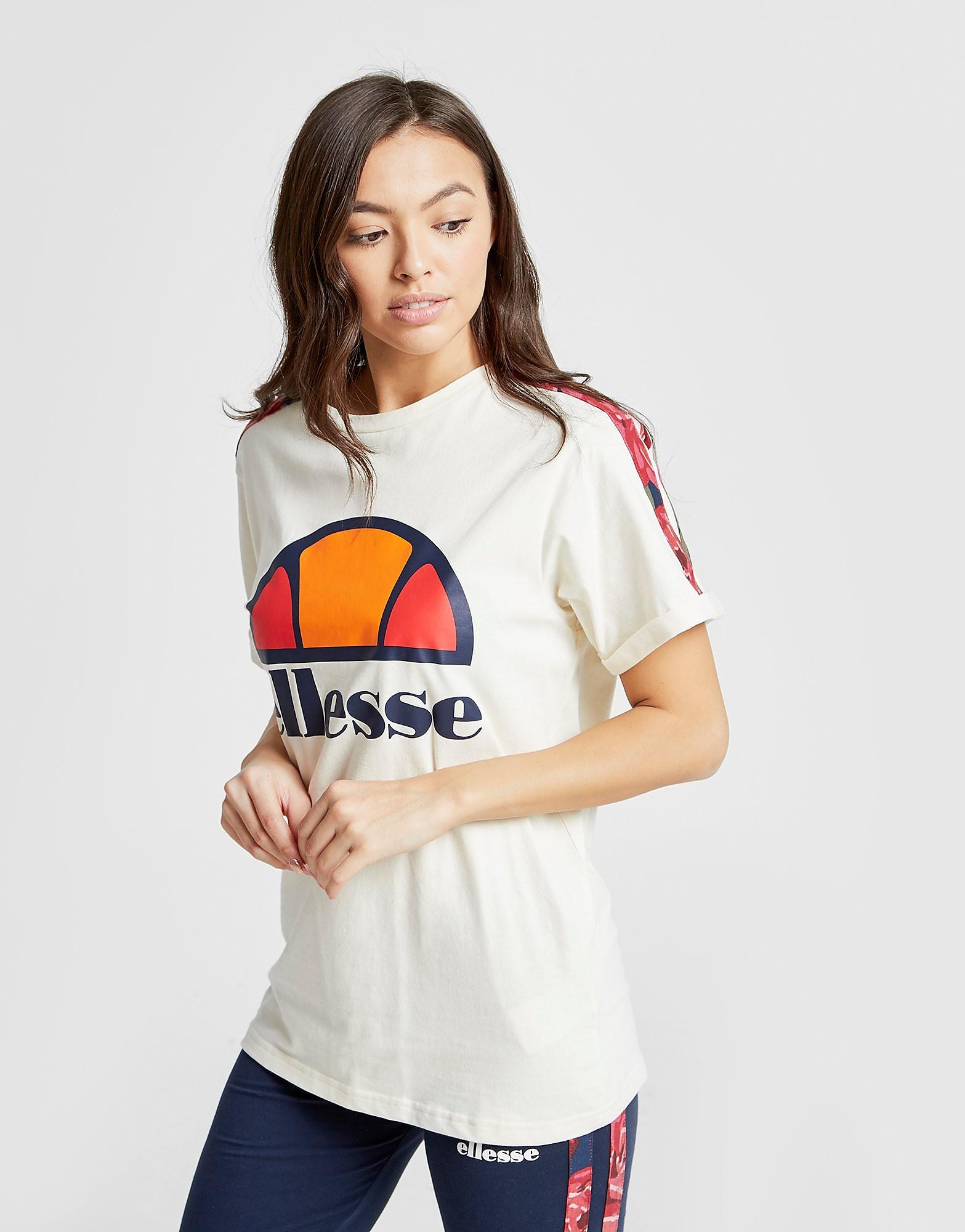 Ellesse Anne-Marie Stripe Boyfriend T-Shirt Dames - Crème - Dames