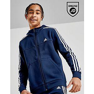 850adfbbefe9 adidas Badge of Sport 3-Stripes Full Zip Hoodie Junior ...