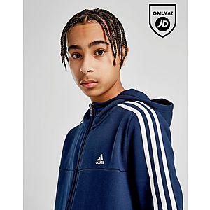 d866a202974a ... adidas Badge of Sport 3-Stripes Full Zip Hoodie Junior