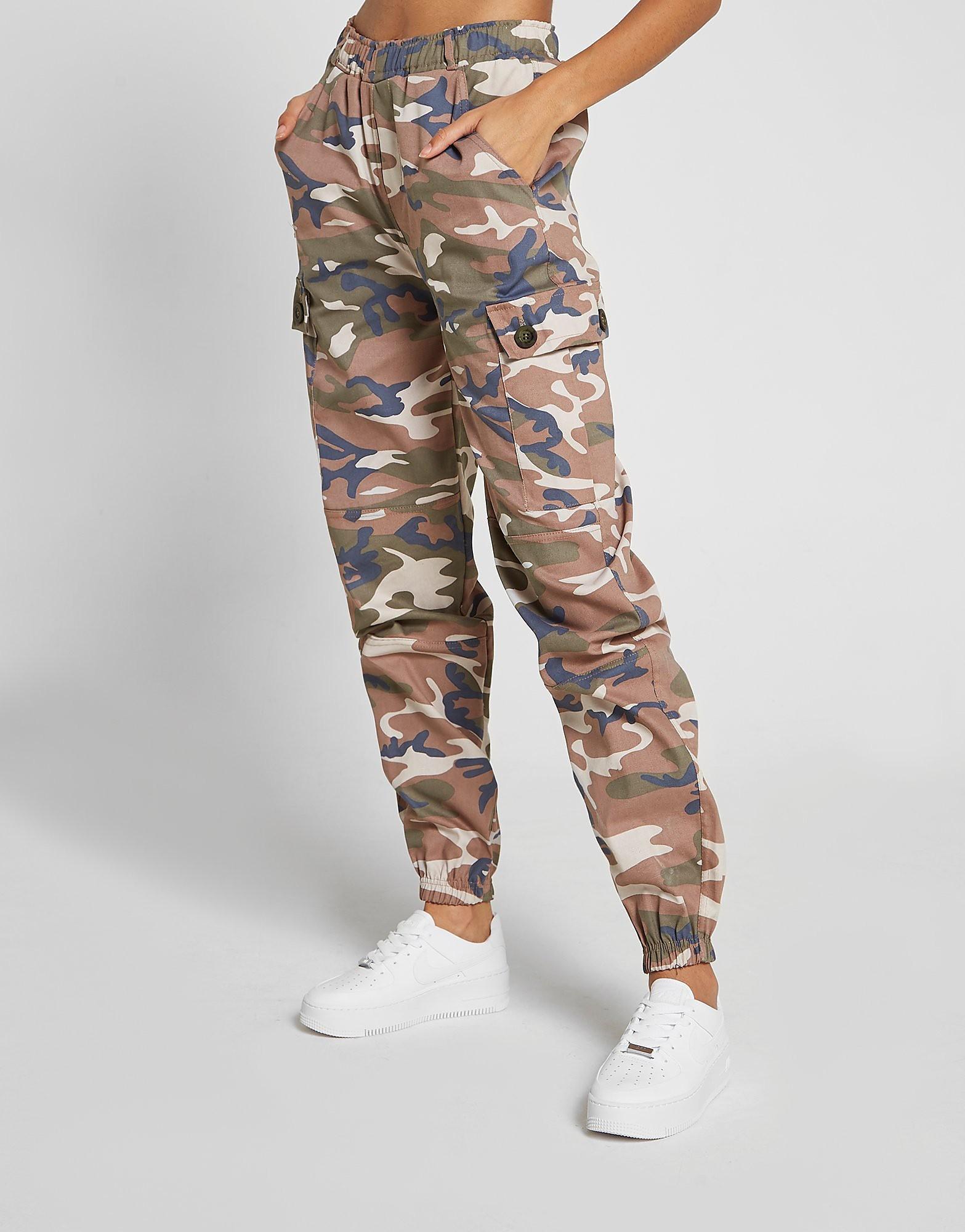 Supply & Demand Camo Cargo Pants Dames - alleen bij JD - Groen - Dames