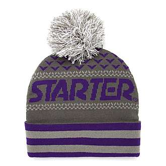 Starter Jaquard Knitted Bobble Hat