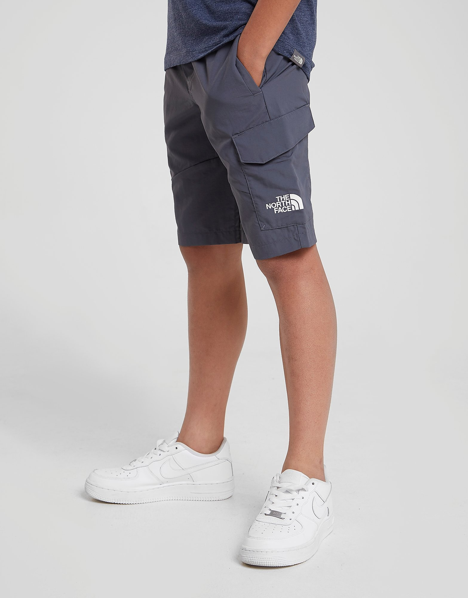 The North Face Woven Cargo Shorts Junior - alleen bij JD - Grijs - Kind